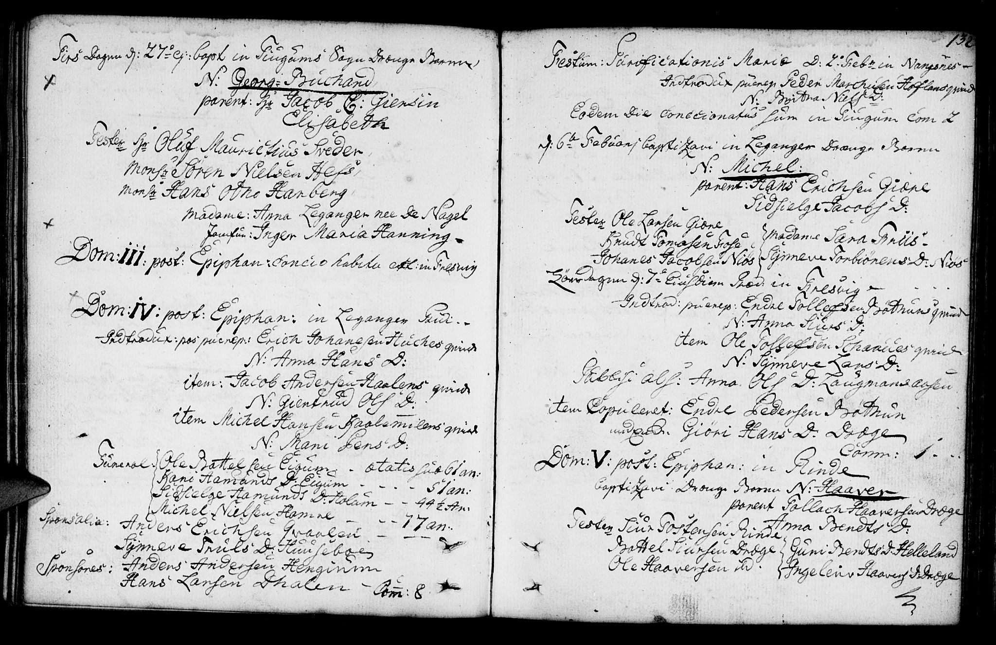 SAB, Leikanger Sokneprestembete, Ministerialbok nr. A 3, 1756-1770, s. 132
