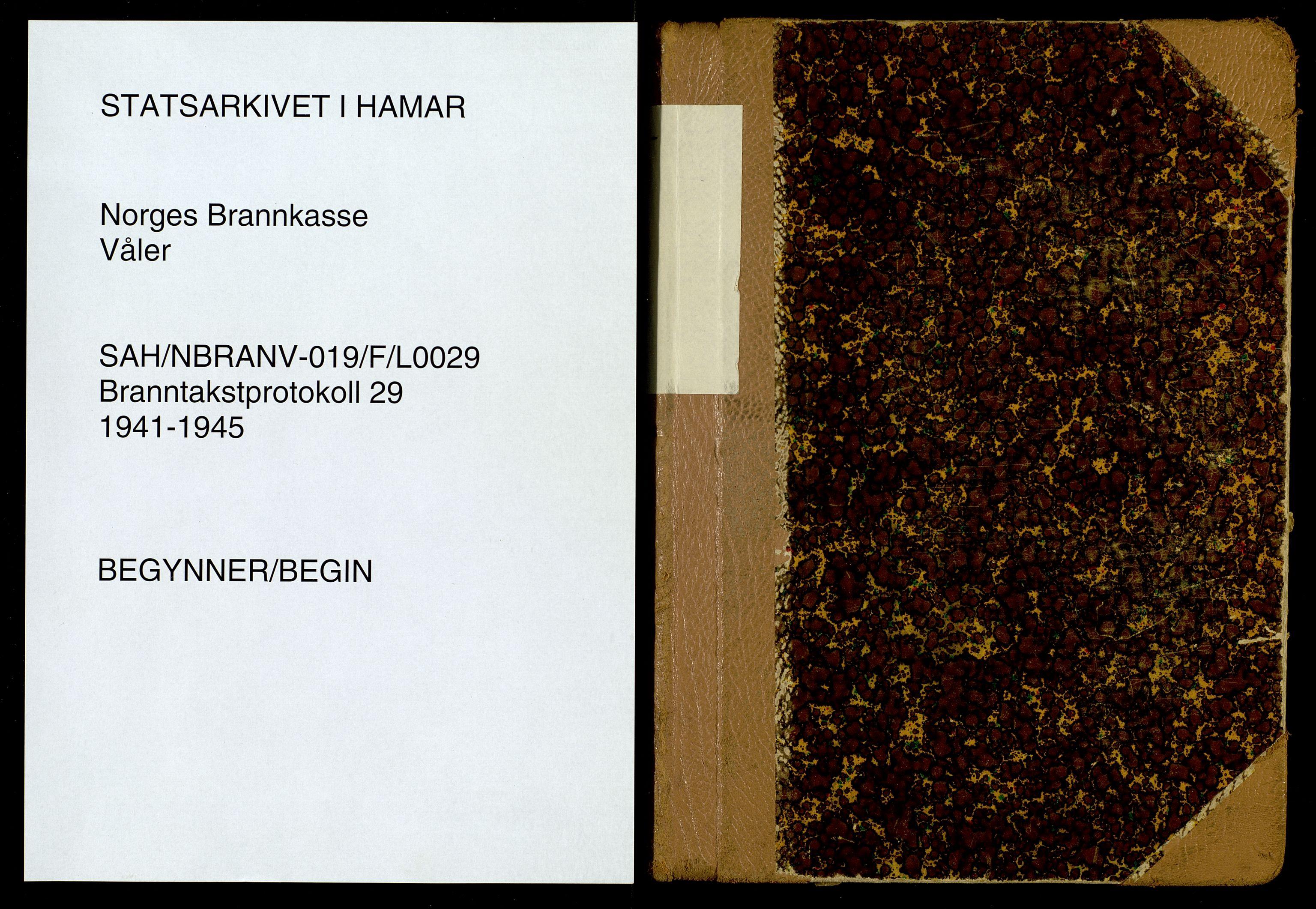 SAH, Norges Brannkasse, Våler, F/L0029: Branntakstprotokoll, 1941-1945