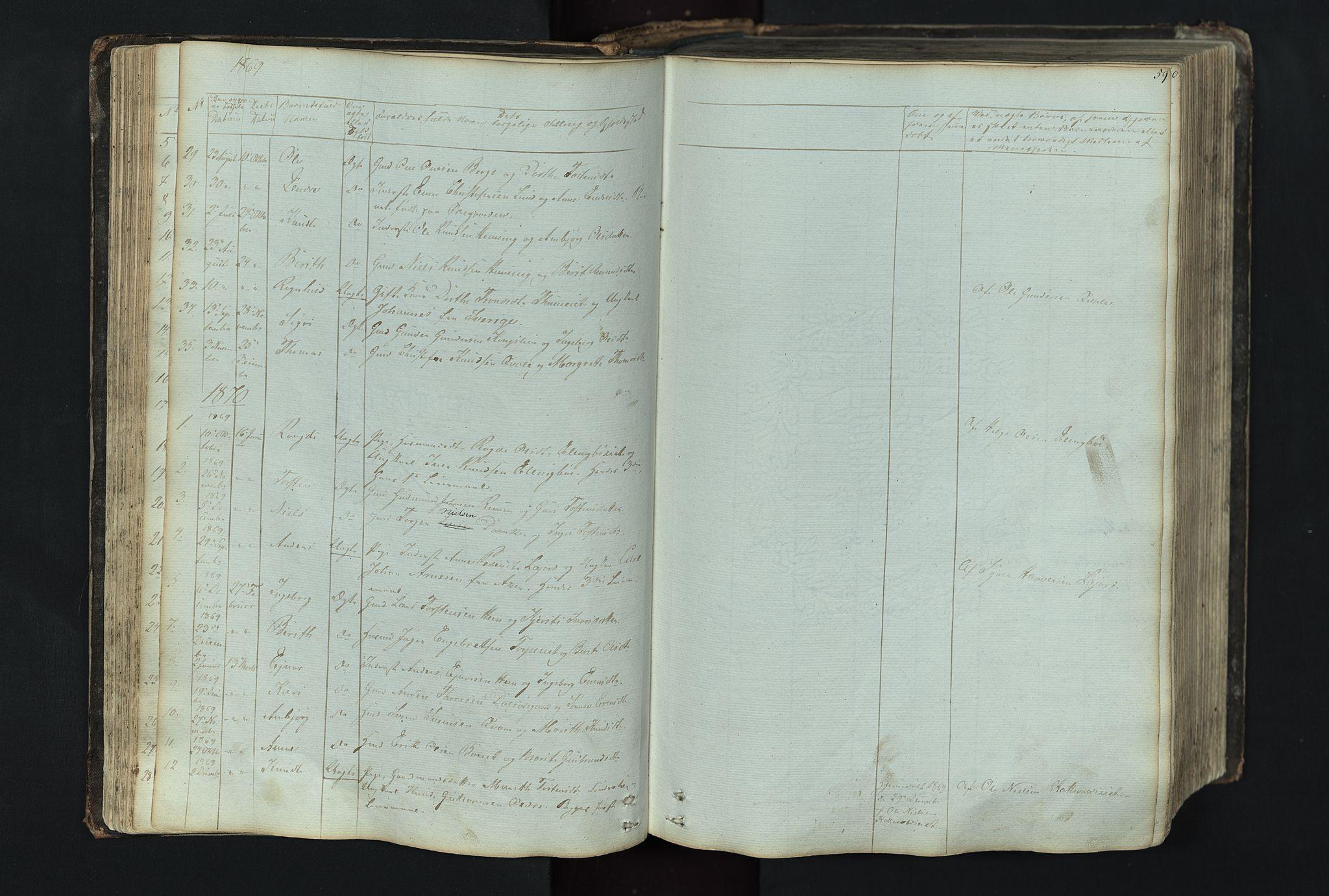 SAH, Vang prestekontor, Valdres, Klokkerbok nr. 4, 1835-1892, s. 59