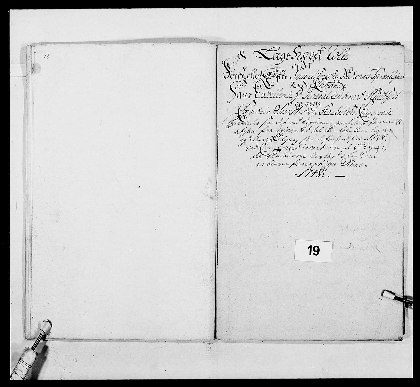 RA, Kommanderende general (KG I) med Det norske krigsdirektorium, E/Ea/L0495: 1. Smålenske regiment, 1732-1763, s. 247