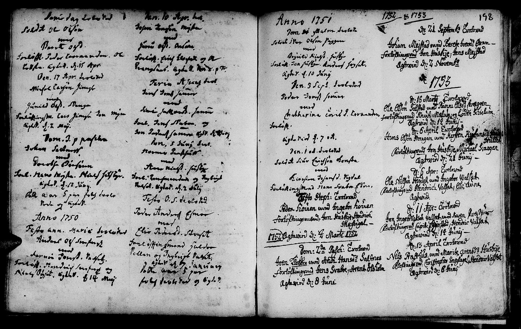 SAT, Ministerialprotokoller, klokkerbøker og fødselsregistre - Sør-Trøndelag, 666/L0783: Ministerialbok nr. 666A01, 1702-1753, s. 198