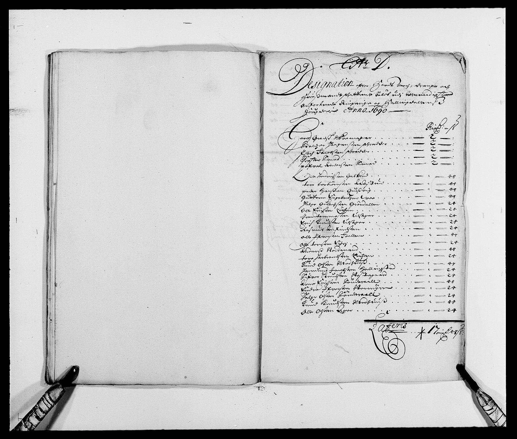 RA, Rentekammeret inntil 1814, Reviderte regnskaper, Fogderegnskap, R21/L1448: Fogderegnskap Ringerike og Hallingdal, 1690-1692, s. 50