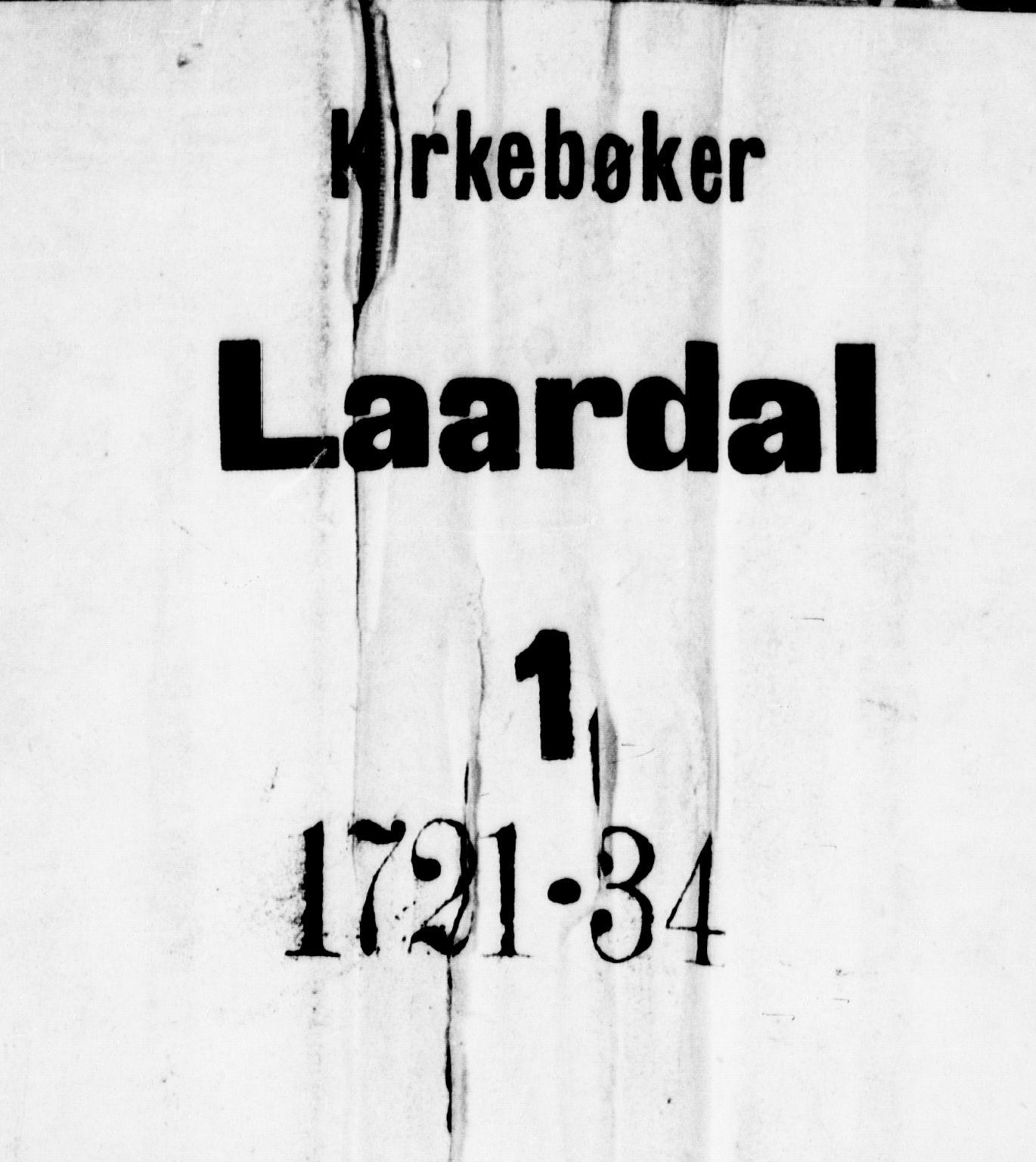 SAKO, Lårdal kirkebøker, F/Fa/L0001: Ministerialbok nr. I 1, 1721-1734