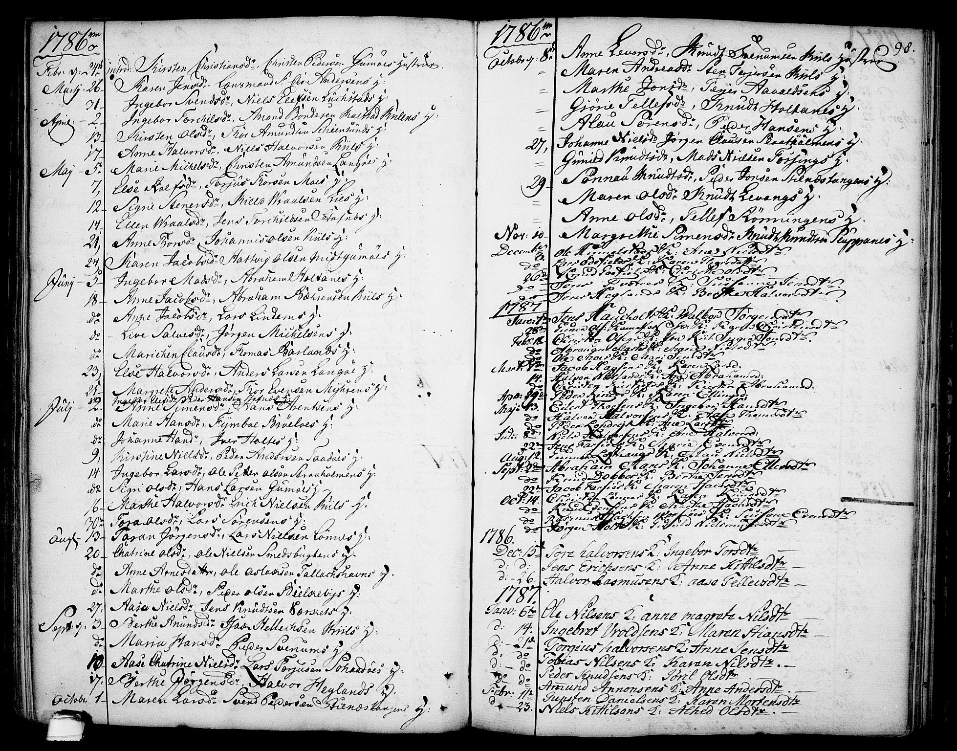 SAKO, Sannidal kirkebøker, F/Fa/L0002: Ministerialbok nr. 2, 1767-1802, s. 98