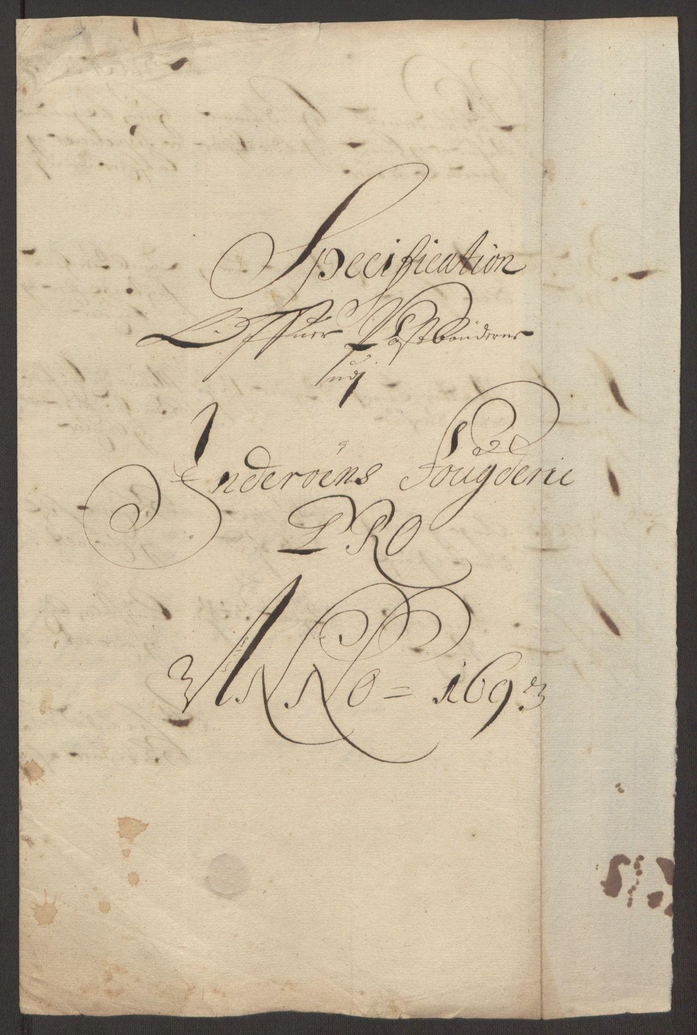 RA, Rentekammeret inntil 1814, Reviderte regnskaper, Fogderegnskap, R63/L4308: Fogderegnskap Inderøy, 1692-1694, s. 515