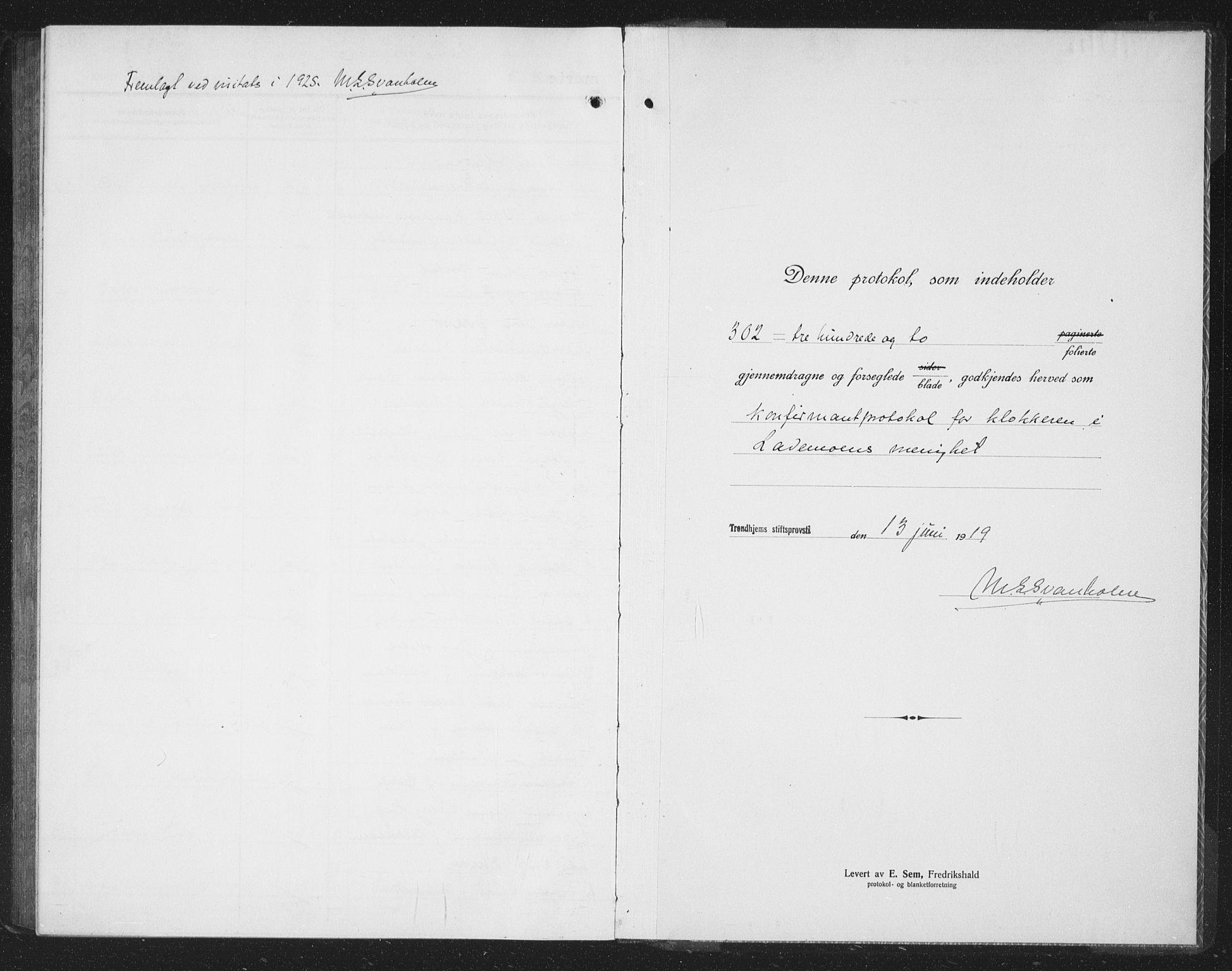 SAT, Ministerialprotokoller, klokkerbøker og fødselsregistre - Sør-Trøndelag, 605/L0258: Klokkerbok nr. 605C05, 1918-1930