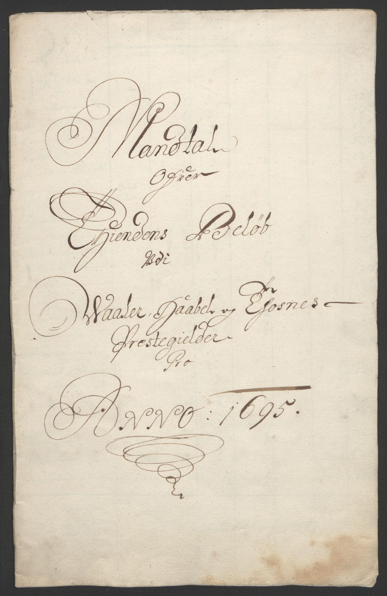 RA, Rentekammeret inntil 1814, Reviderte regnskaper, Fogderegnskap, R04/L0122: Fogderegnskap Moss, Onsøy, Tune, Veme og Åbygge, 1695, s. 271