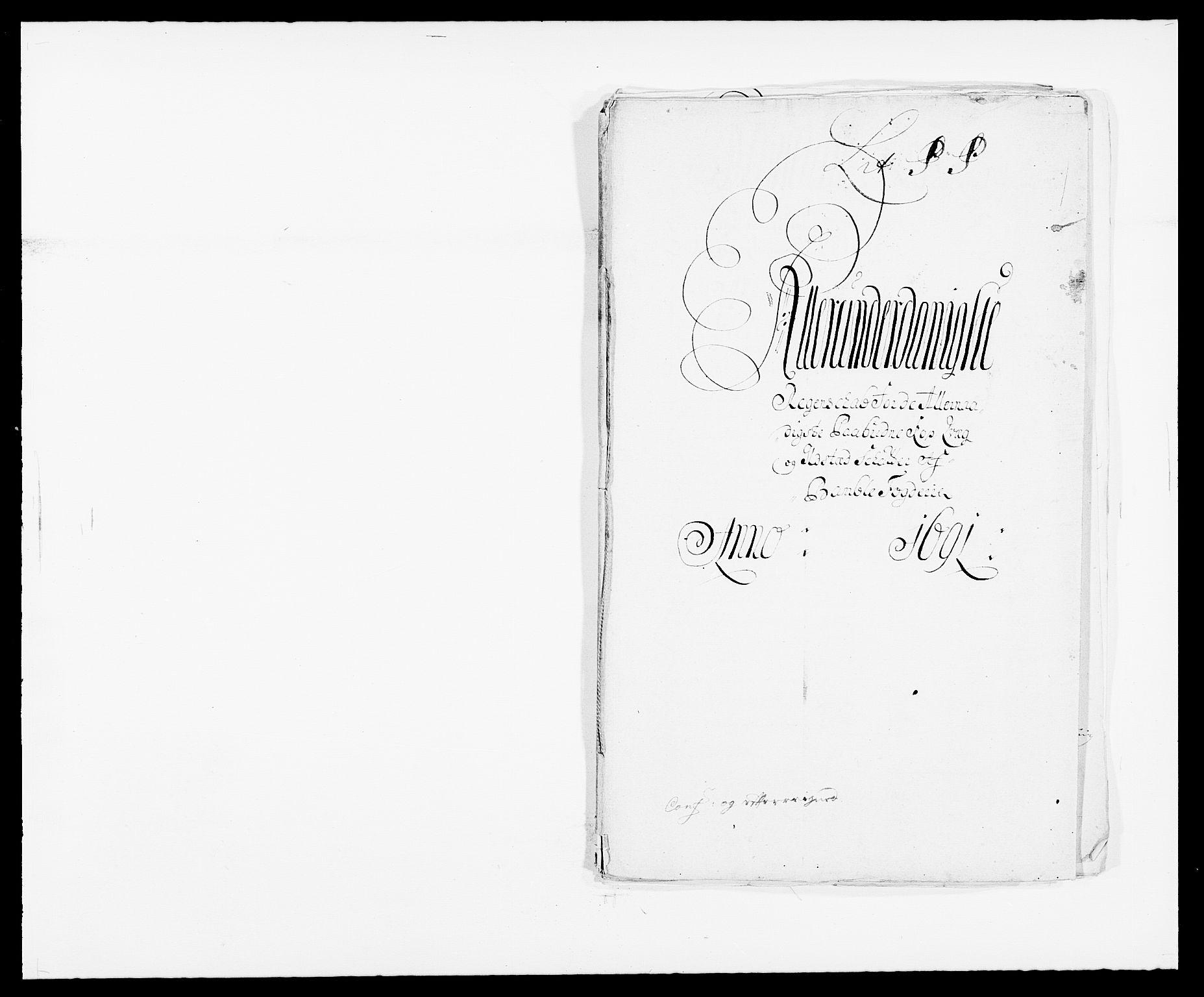 RA, Rentekammeret inntil 1814, Reviderte regnskaper, Fogderegnskap, R34/L2051: Fogderegnskap Bamble, 1688-1691, s. 269
