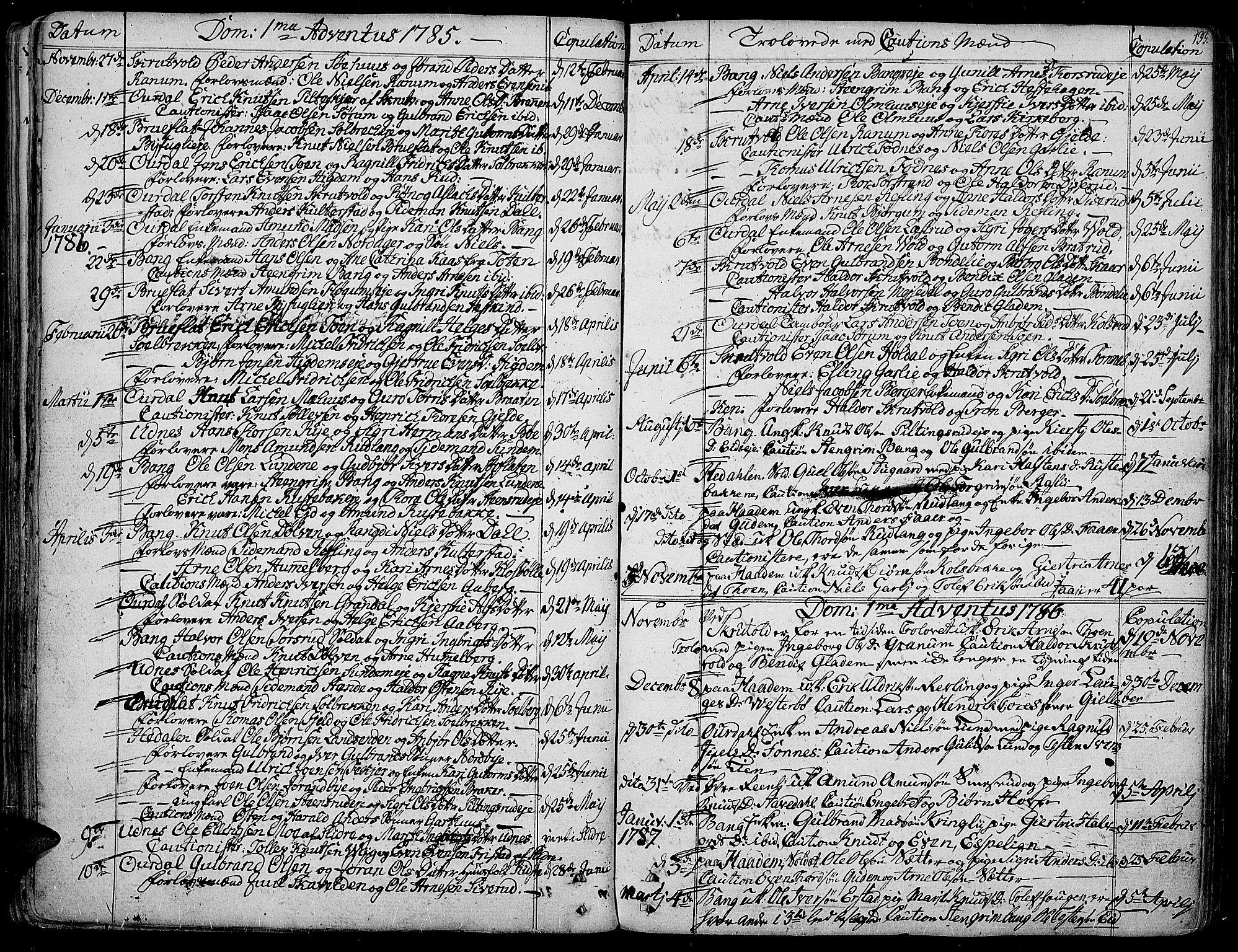 SAH, Aurdal prestekontor, Ministerialbok nr. 6, 1781-1804, s. 133