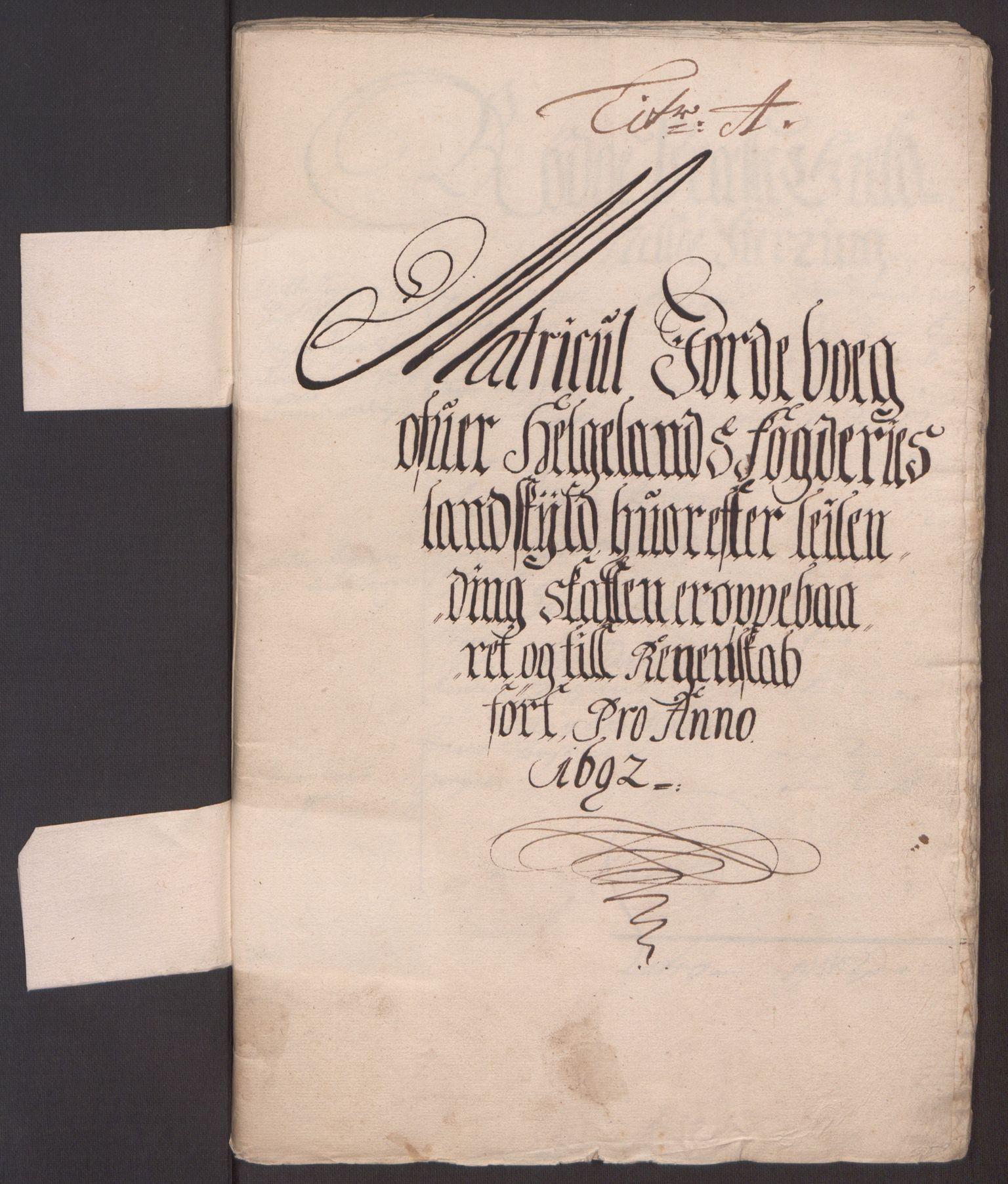 RA, Rentekammeret inntil 1814, Reviderte regnskaper, Fogderegnskap, R65/L4504: Fogderegnskap Helgeland, 1691-1692, s. 171