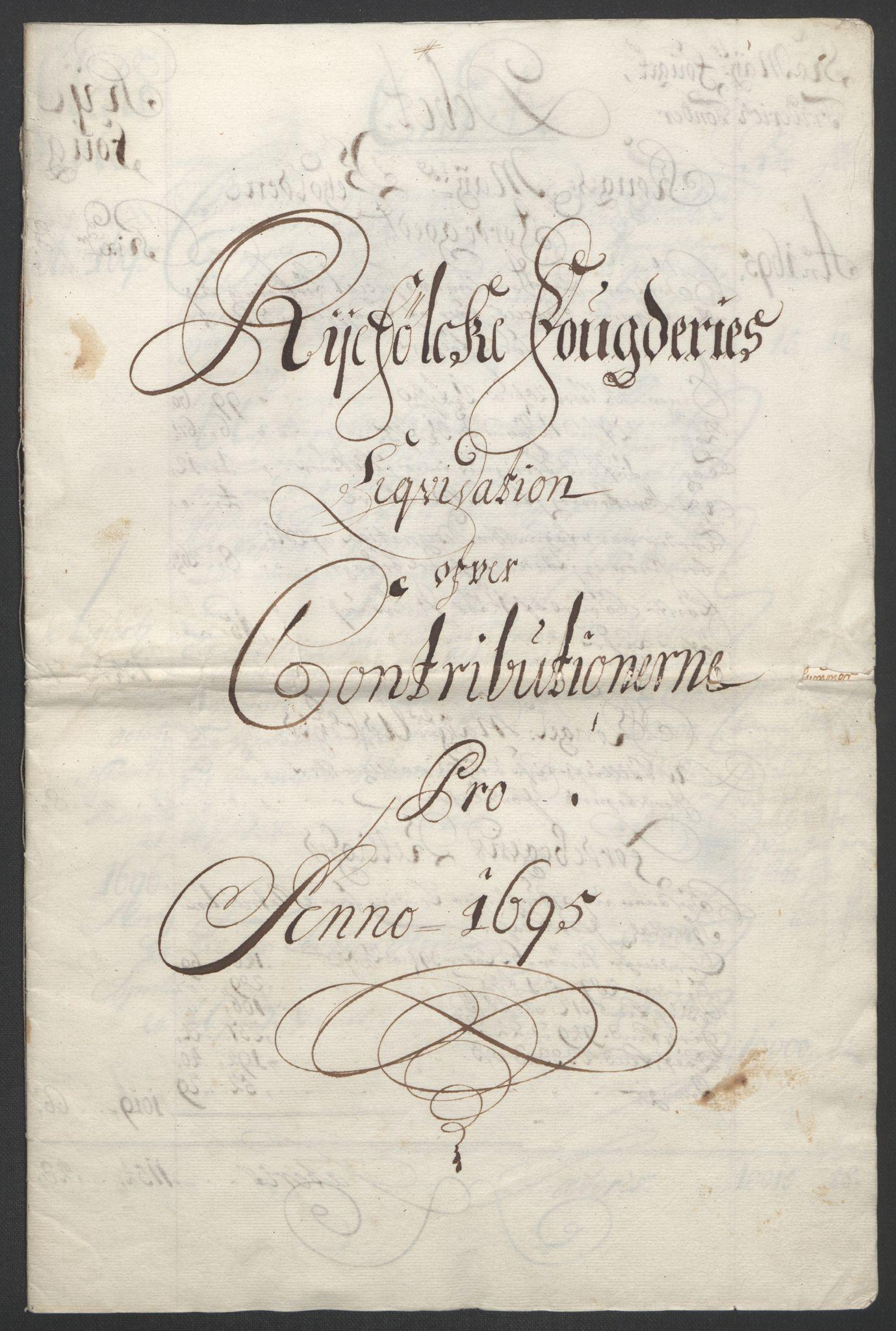 RA, Rentekammeret inntil 1814, Reviderte regnskaper, Fogderegnskap, R47/L2857: Fogderegnskap Ryfylke, 1694-1696, s. 108