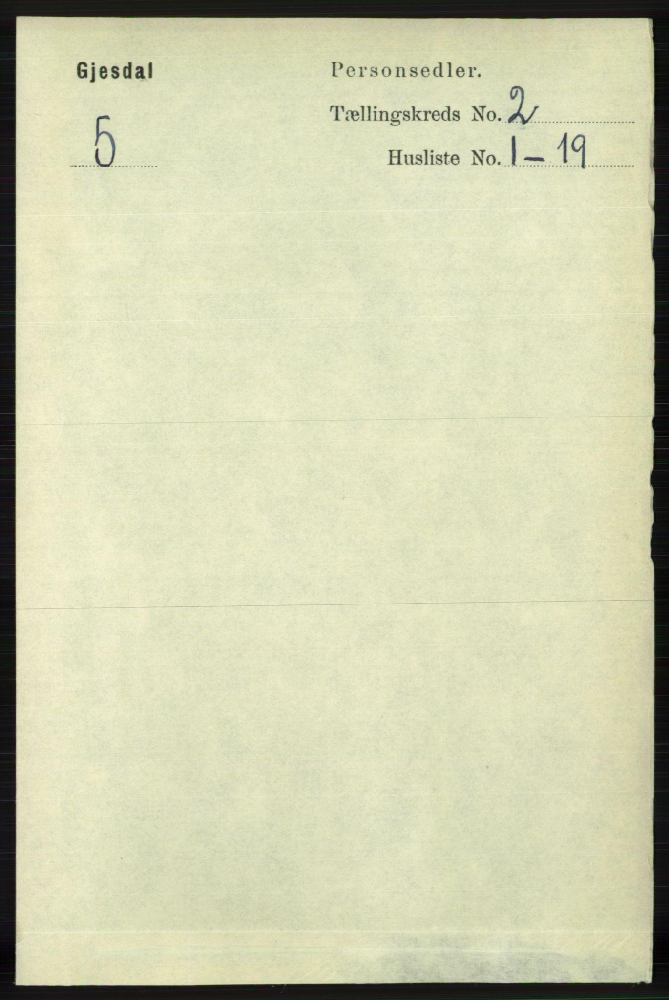 RA, Folketelling 1891 for 1122 Gjesdal herred, 1891, s. 382