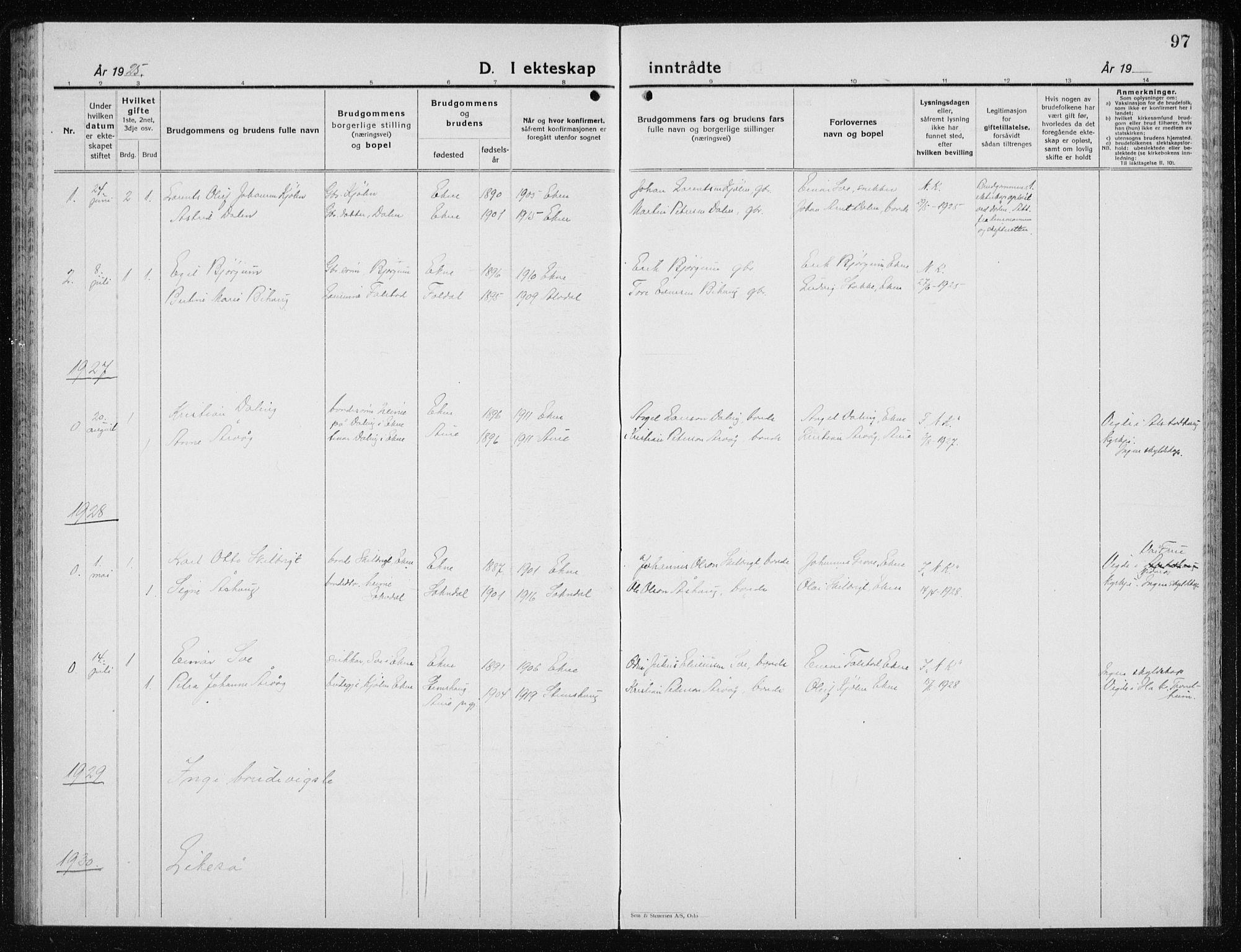 SAT, Ministerialprotokoller, klokkerbøker og fødselsregistre - Nord-Trøndelag, 719/L0180: Klokkerbok nr. 719C01, 1878-1940, s. 97