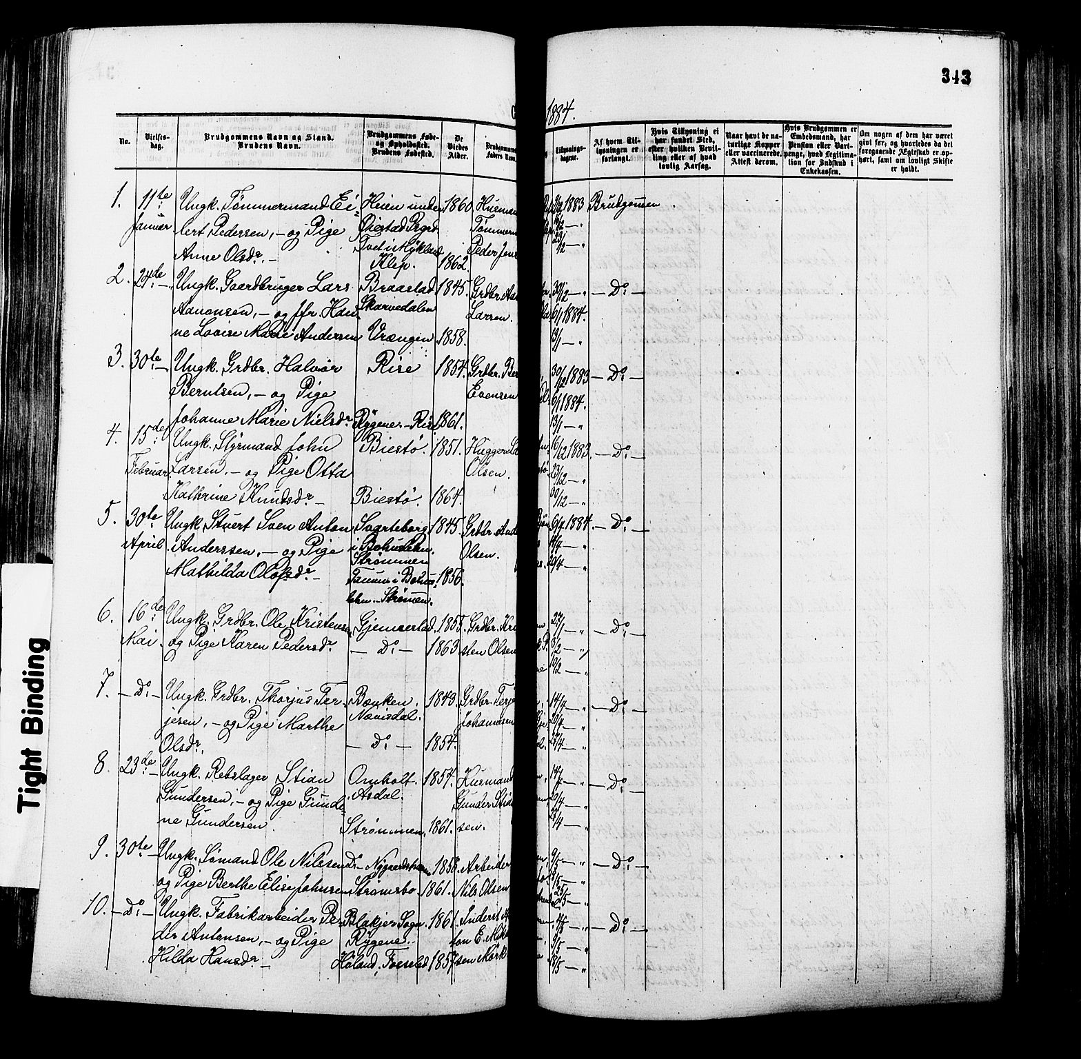 SAK, Øyestad sokneprestkontor, F/Fa/L0016: Ministerialbok nr. A 16, 1874-1886, s. 343