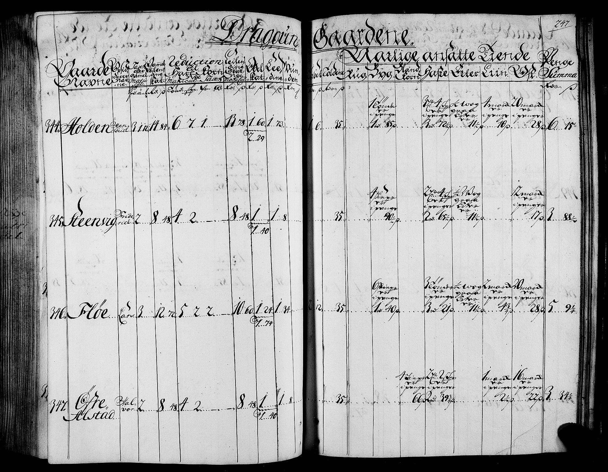 RA, Rentekammeret inntil 1814, Realistisk ordnet avdeling, N/Nb/Nbf/L0165: Stjørdal og Verdal matrikkelprotokoll, 1723, s. 246b-247a