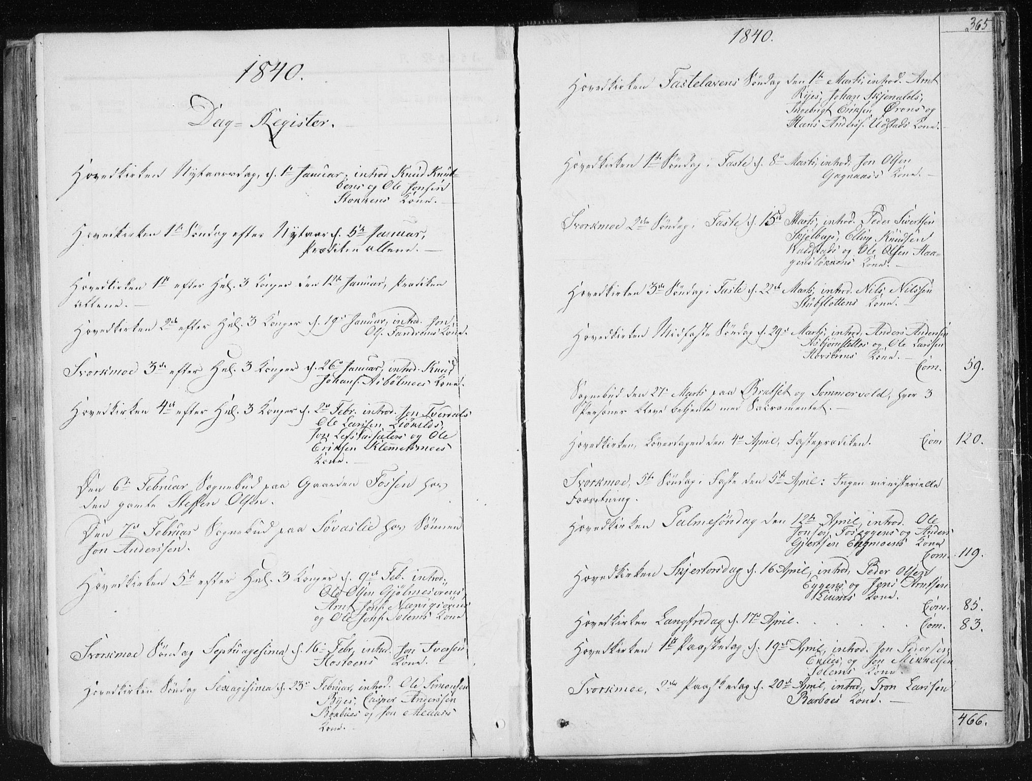 SAT, Ministerialprotokoller, klokkerbøker og fødselsregistre - Sør-Trøndelag, 668/L0805: Ministerialbok nr. 668A05, 1840-1853, s. 365