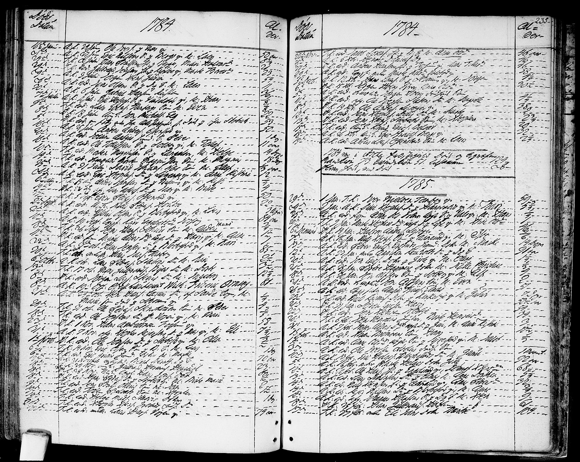 SAO, Asker prestekontor Kirkebøker, F/Fa/L0003: Ministerialbok nr. I 3, 1767-1807, s. 235