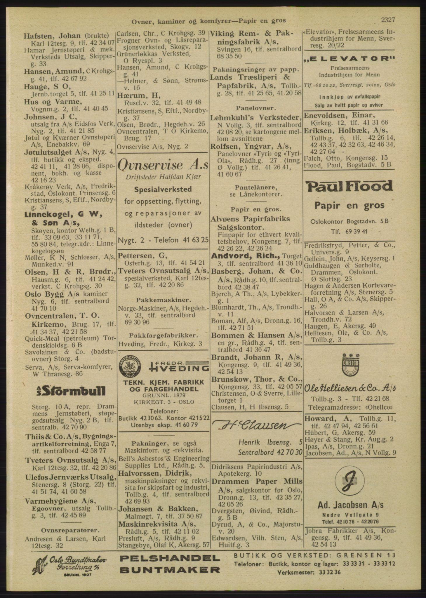 RA, Oslo adressebok (publikasjon)*, 1947, s. 2327