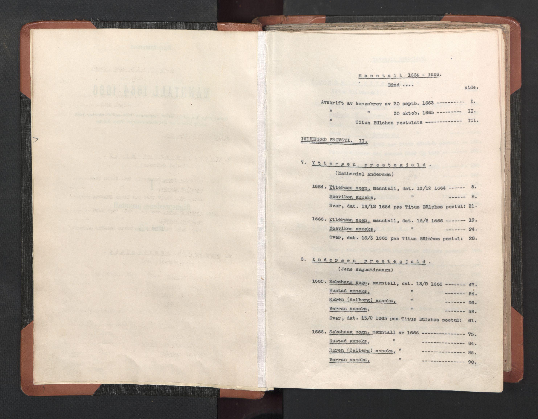 RA, Sogneprestenes manntall 1664-1666, nr. 33: Innherad prosti, 1664-1666, s. upaginert