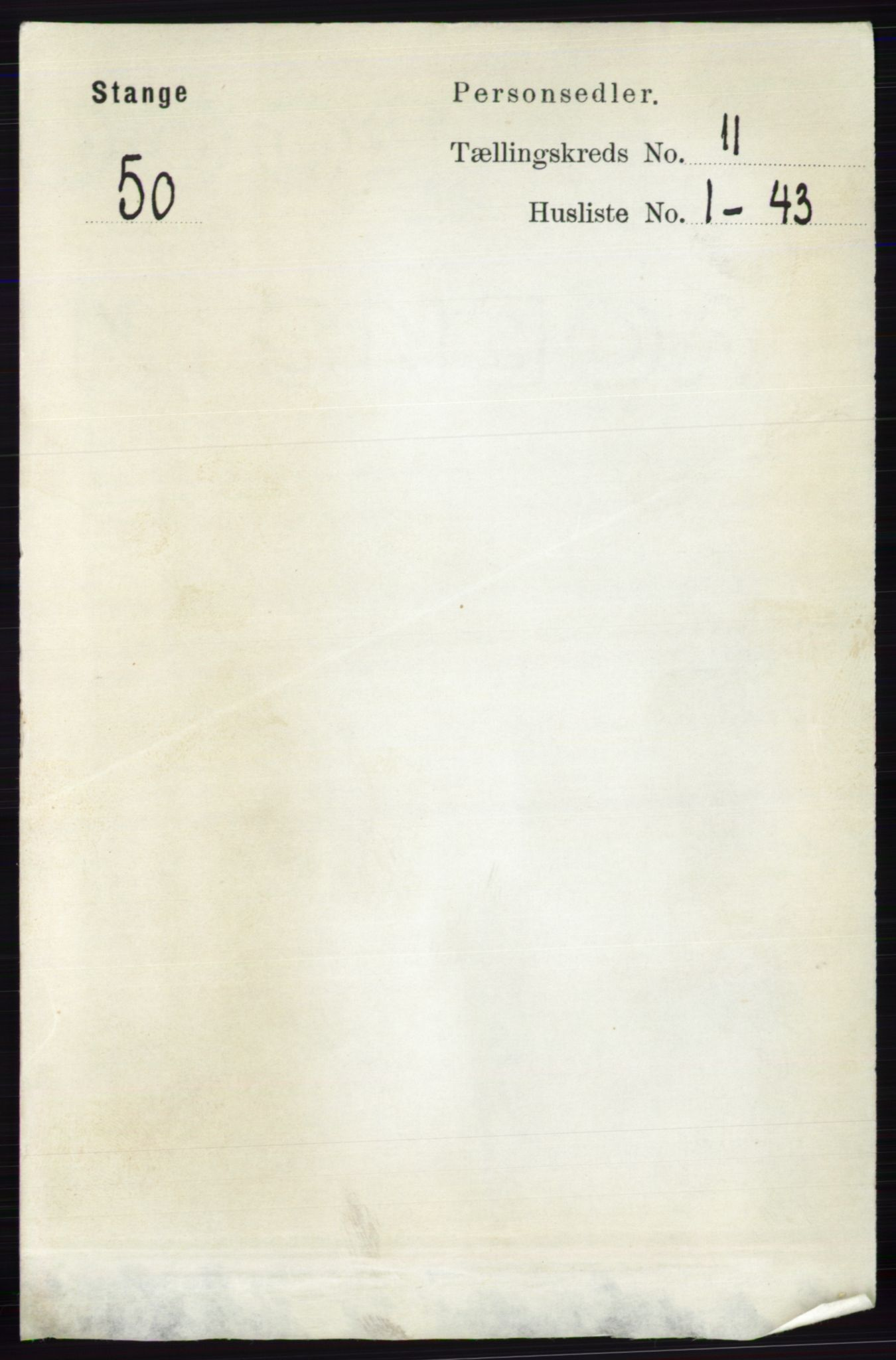 RA, Folketelling 1891 for 0417 Stange herred, 1891, s. 7524