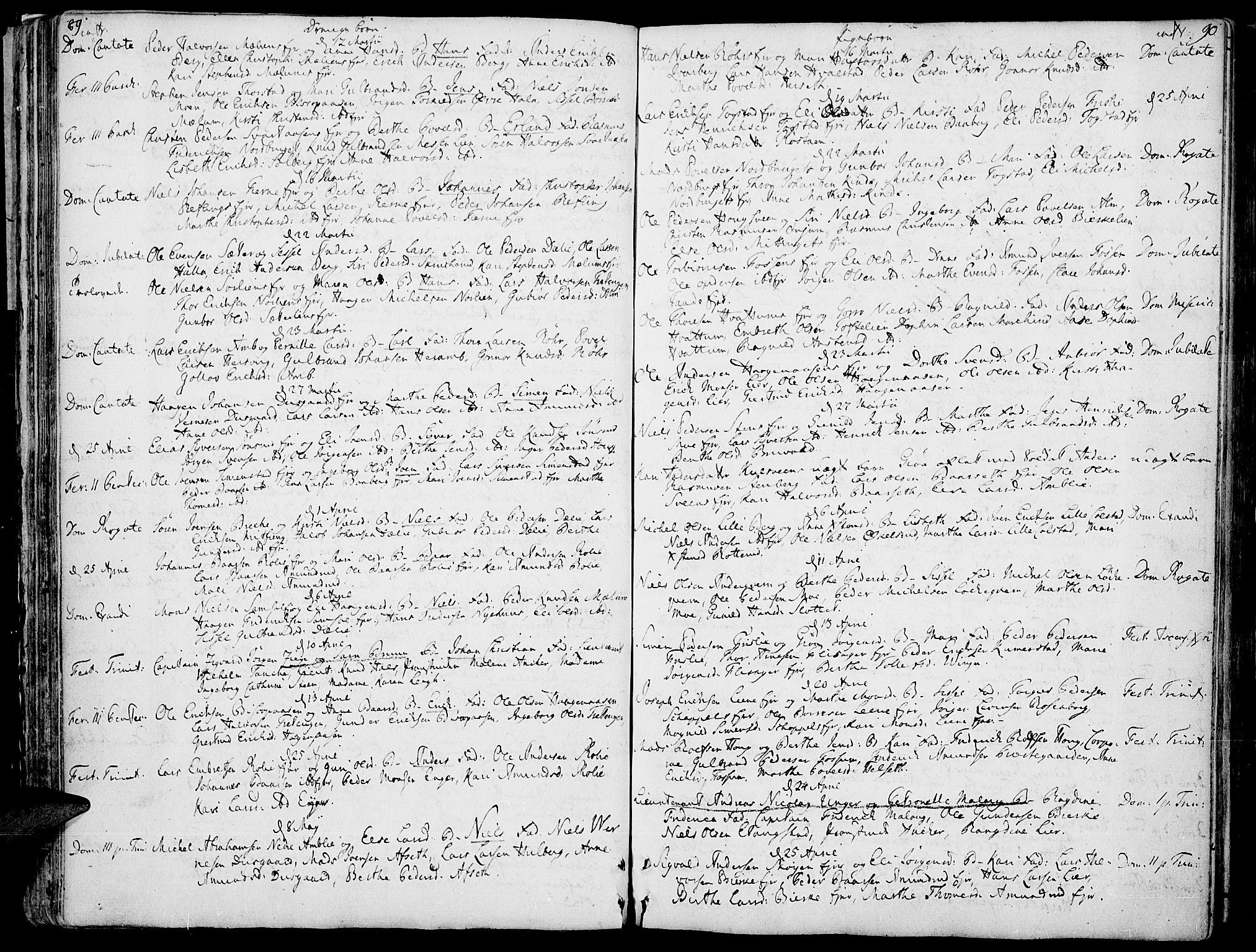 SAH, Ringsaker prestekontor, K/Ka/L0002: Ministerialbok nr. 2, 1747-1774, s. 89-90