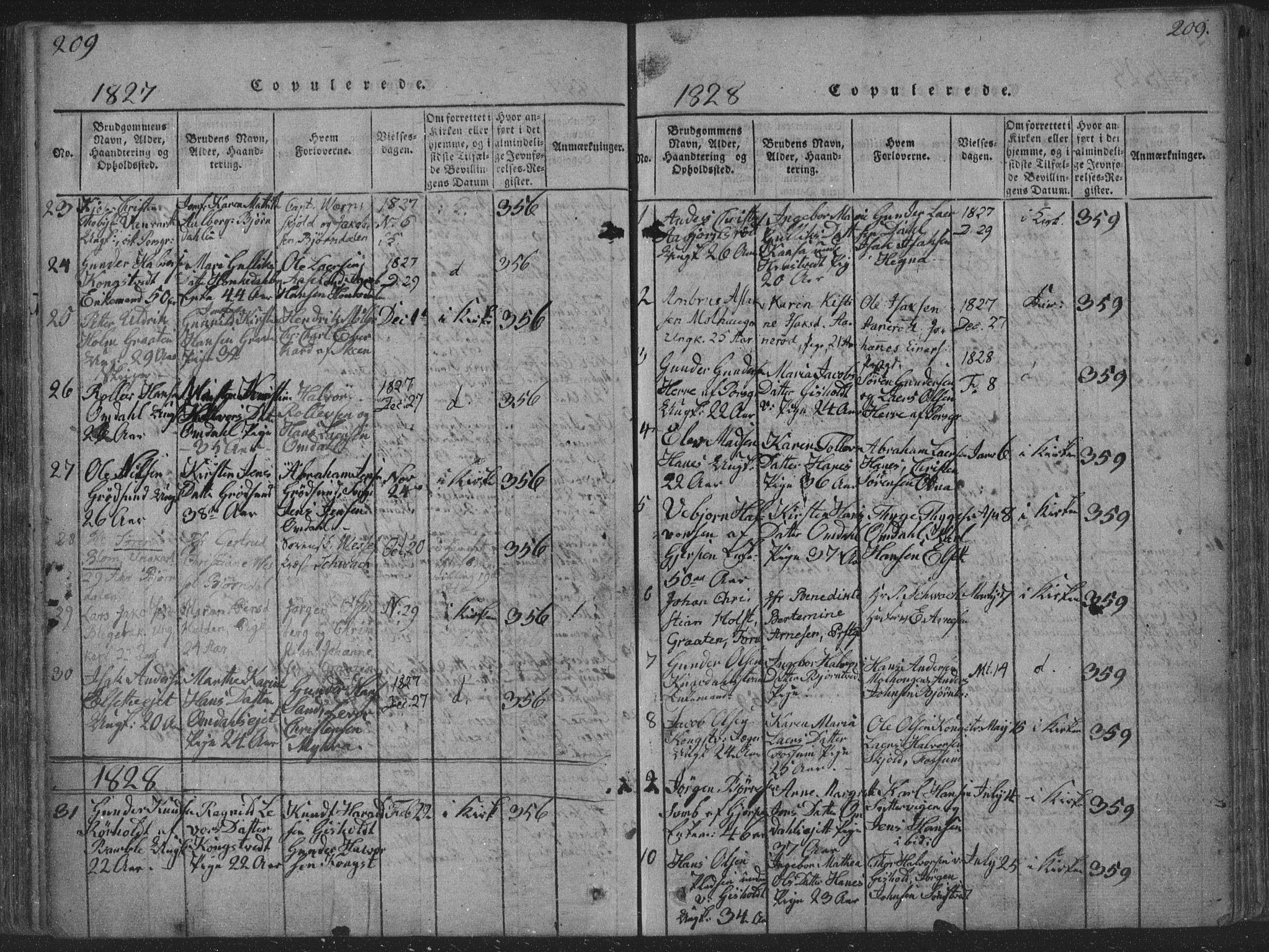 SAKO, Solum kirkebøker, F/Fa/L0004: Ministerialbok nr. I 4, 1814-1833, s. 209