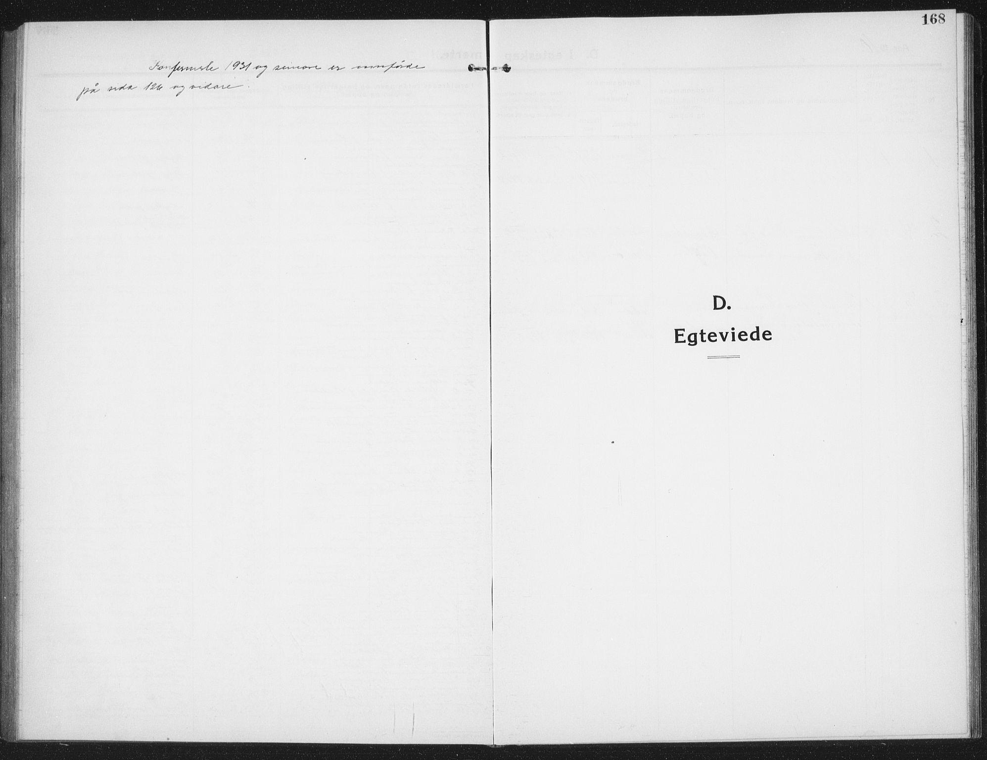 SAT, Ministerialprotokoller, klokkerbøker og fødselsregistre - Nord-Trøndelag, 774/L0630: Klokkerbok nr. 774C01, 1910-1934, s. 168