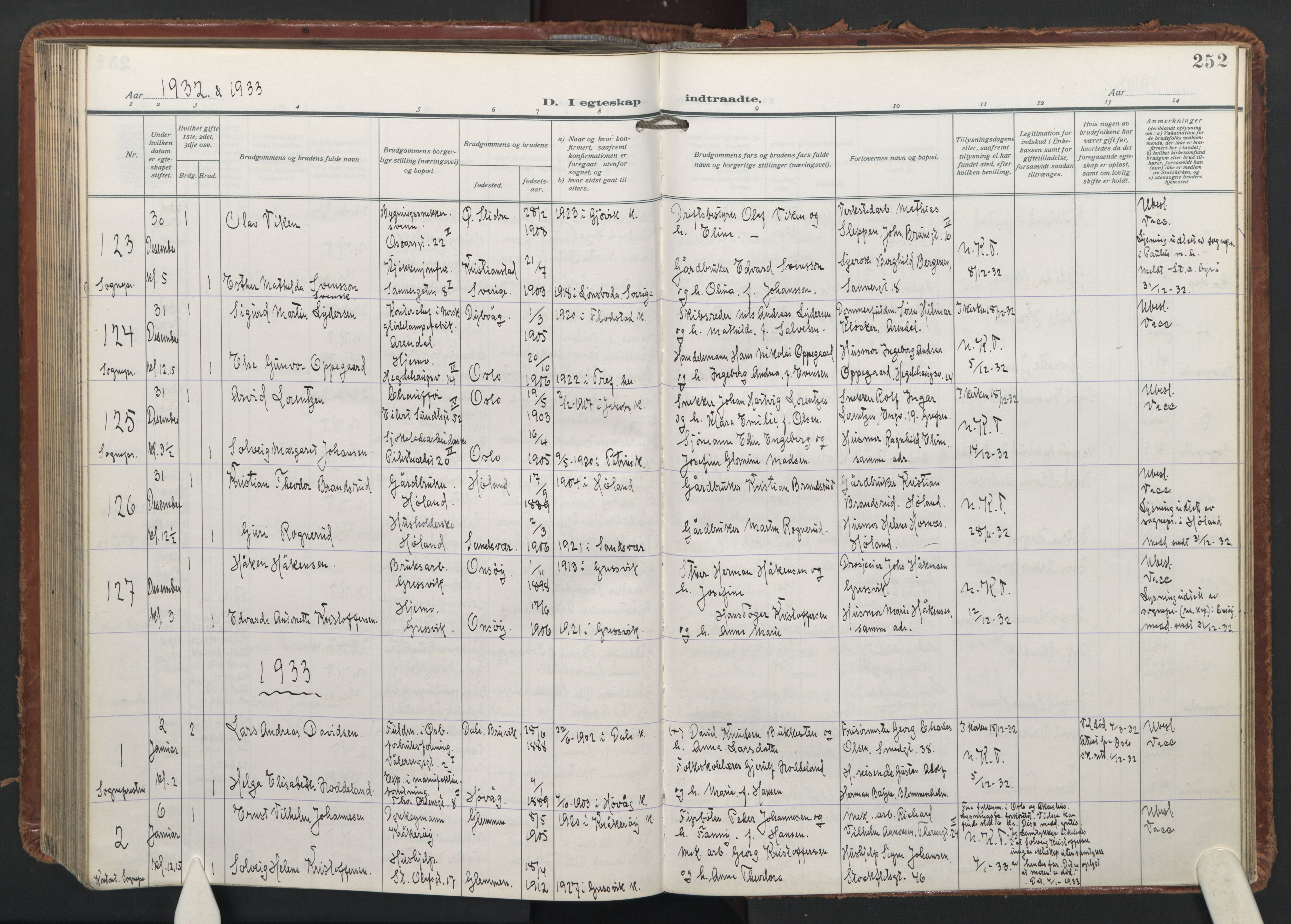 SAO, Trefoldighet prestekontor Kirkebøker, F/Fc/L0009: Ministerialbok nr. III 9, 1922-1936, s. 252