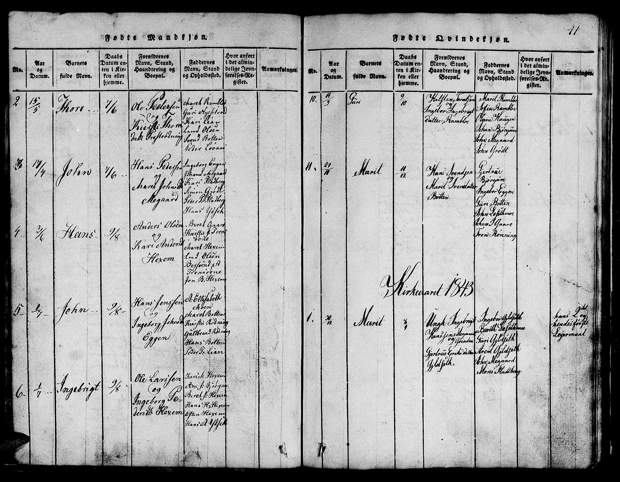 SAT, Ministerialprotokoller, klokkerbøker og fødselsregistre - Sør-Trøndelag, 685/L0976: Klokkerbok nr. 685C01, 1817-1878, s. 41