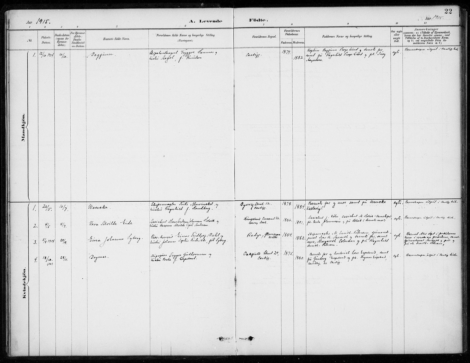 SAB, Den Norske Sjømannsmisjon i utlandet*, Ministerialbok nr. A 2, 1887-1932, s. 22