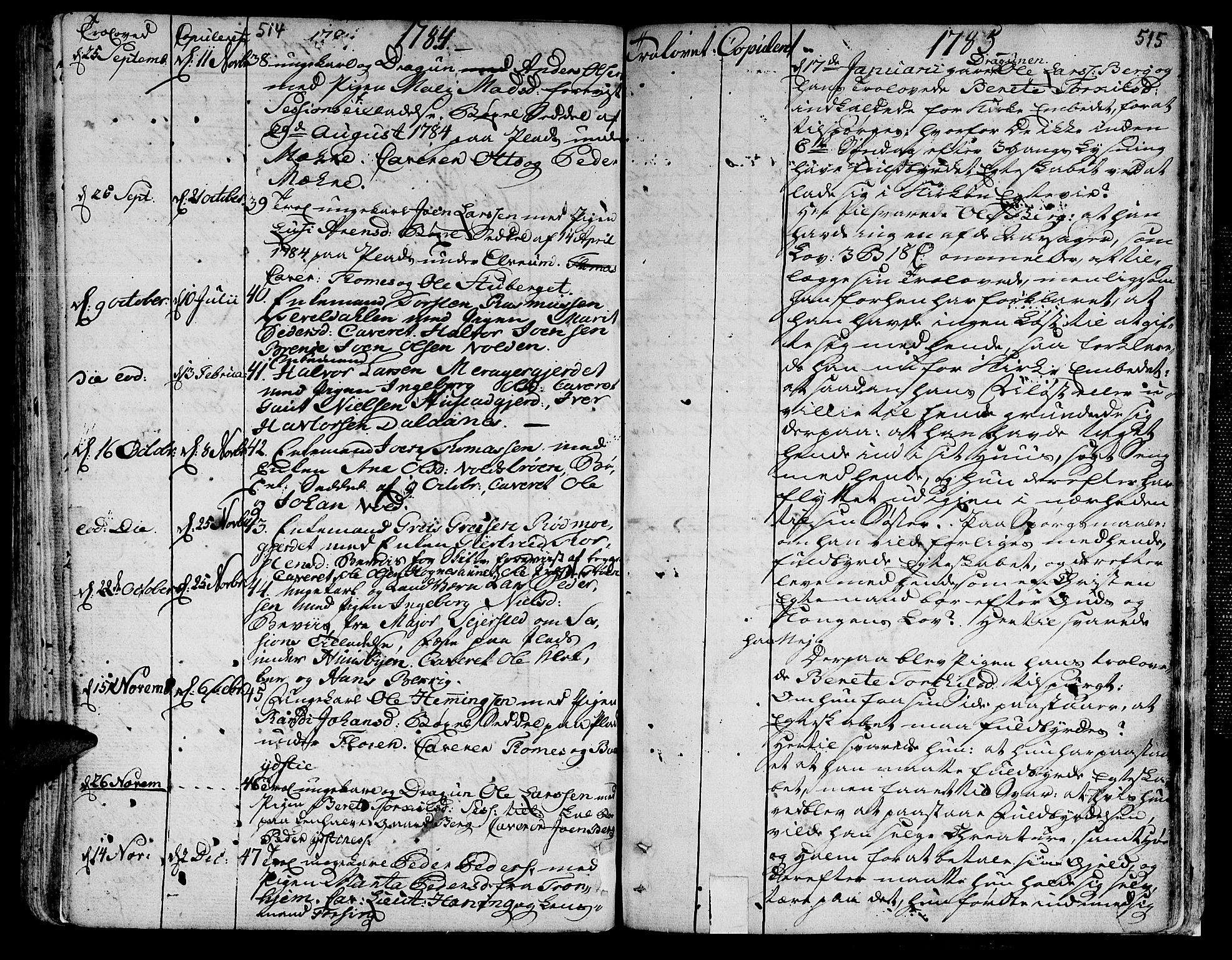 SAT, Ministerialprotokoller, klokkerbøker og fødselsregistre - Nord-Trøndelag, 709/L0059: Ministerialbok nr. 709A06, 1781-1797, s. 514-515