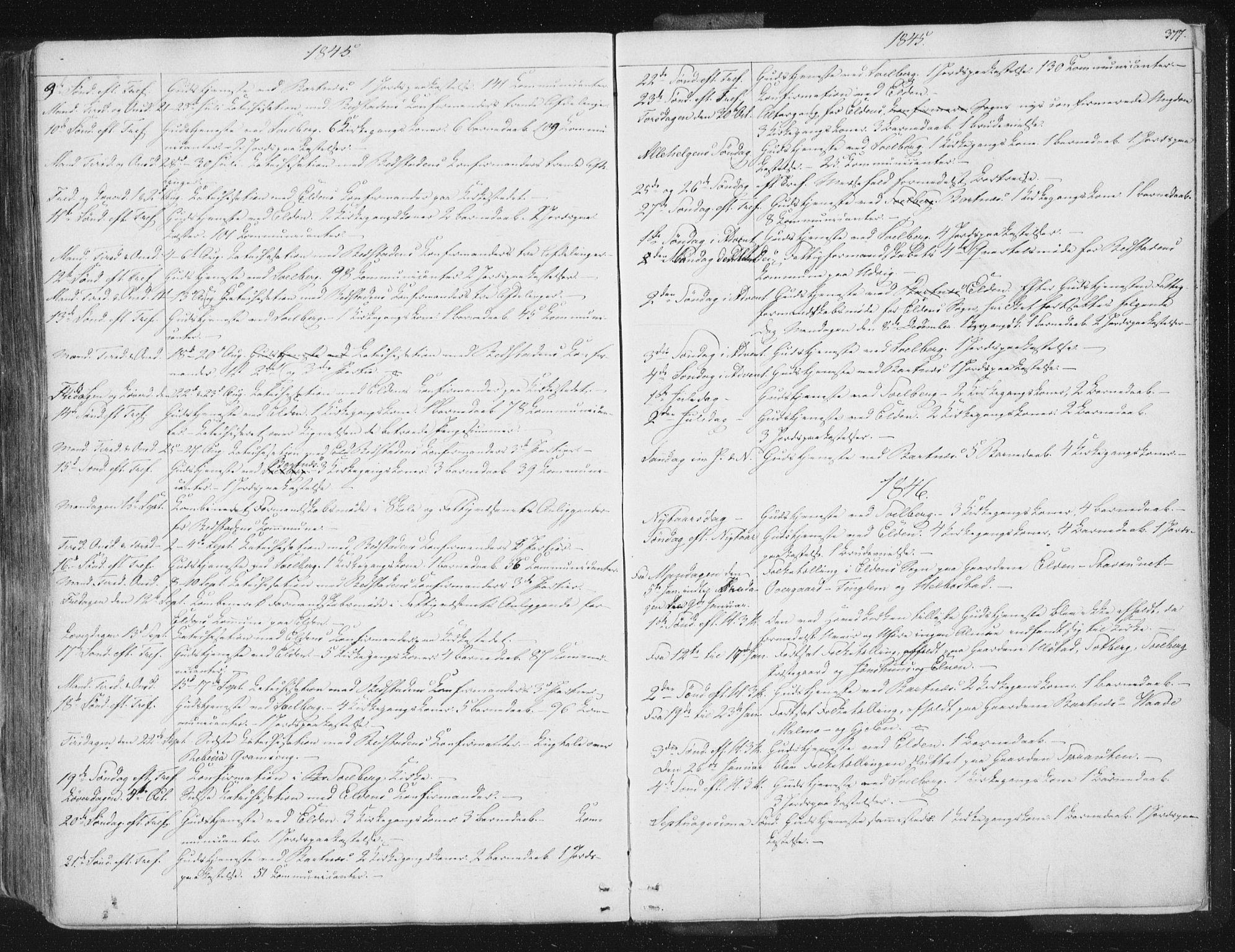 SAT, Ministerialprotokoller, klokkerbøker og fødselsregistre - Nord-Trøndelag, 741/L0392: Ministerialbok nr. 741A06, 1836-1848, s. 377