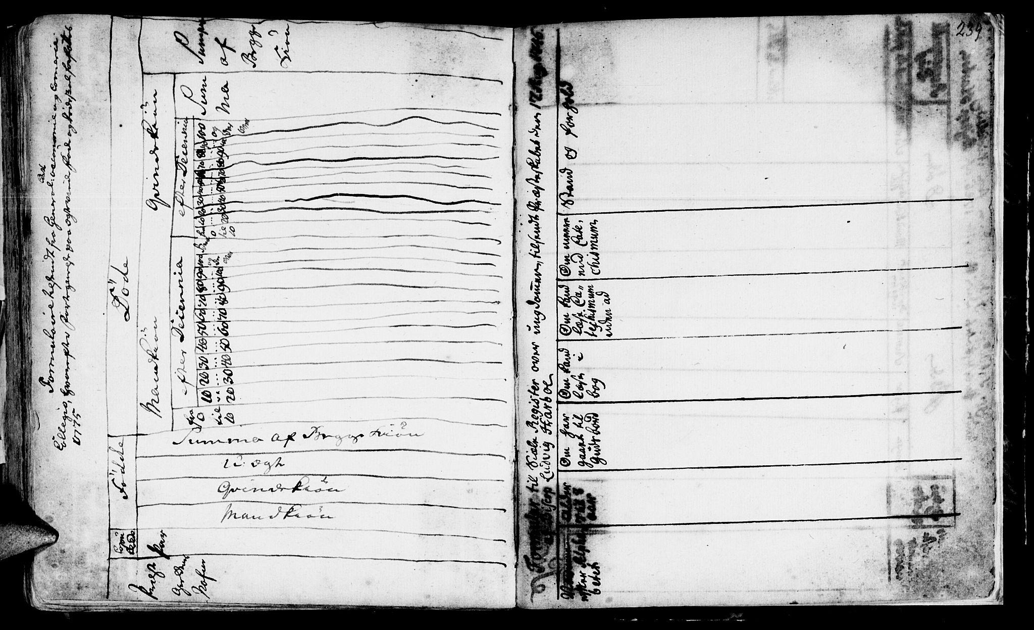 SAT, Ministerialprotokoller, klokkerbøker og fødselsregistre - Sør-Trøndelag, 646/L0604: Ministerialbok nr. 646A02, 1735-1750, s. 238-239