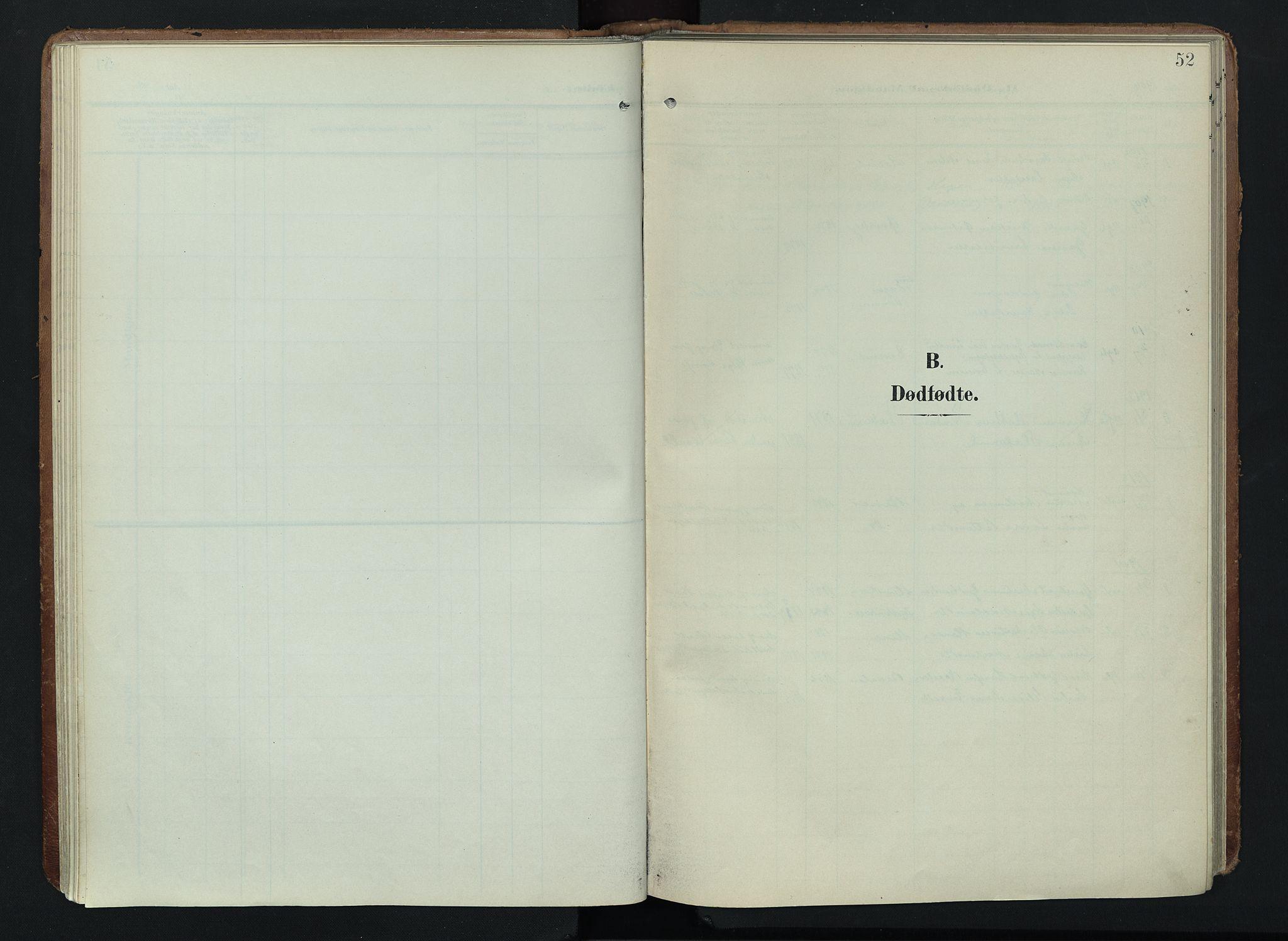 SAH, Søndre Land prestekontor, K/L0005: Ministerialbok nr. 5, 1905-1914, s. 52