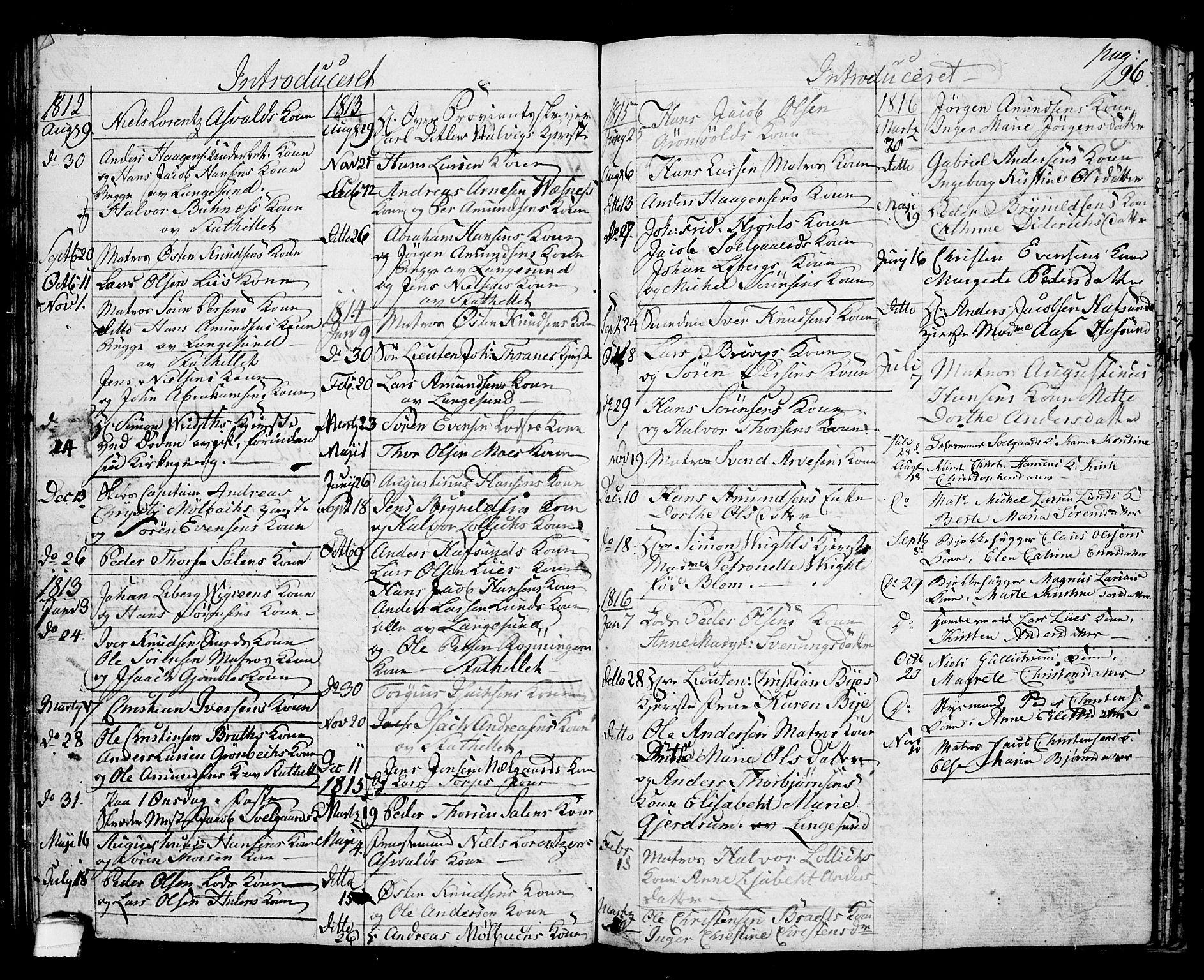 SAKO, Langesund kirkebøker, G/Ga/L0002: Klokkerbok nr. 2, 1801-1815, s. 96
