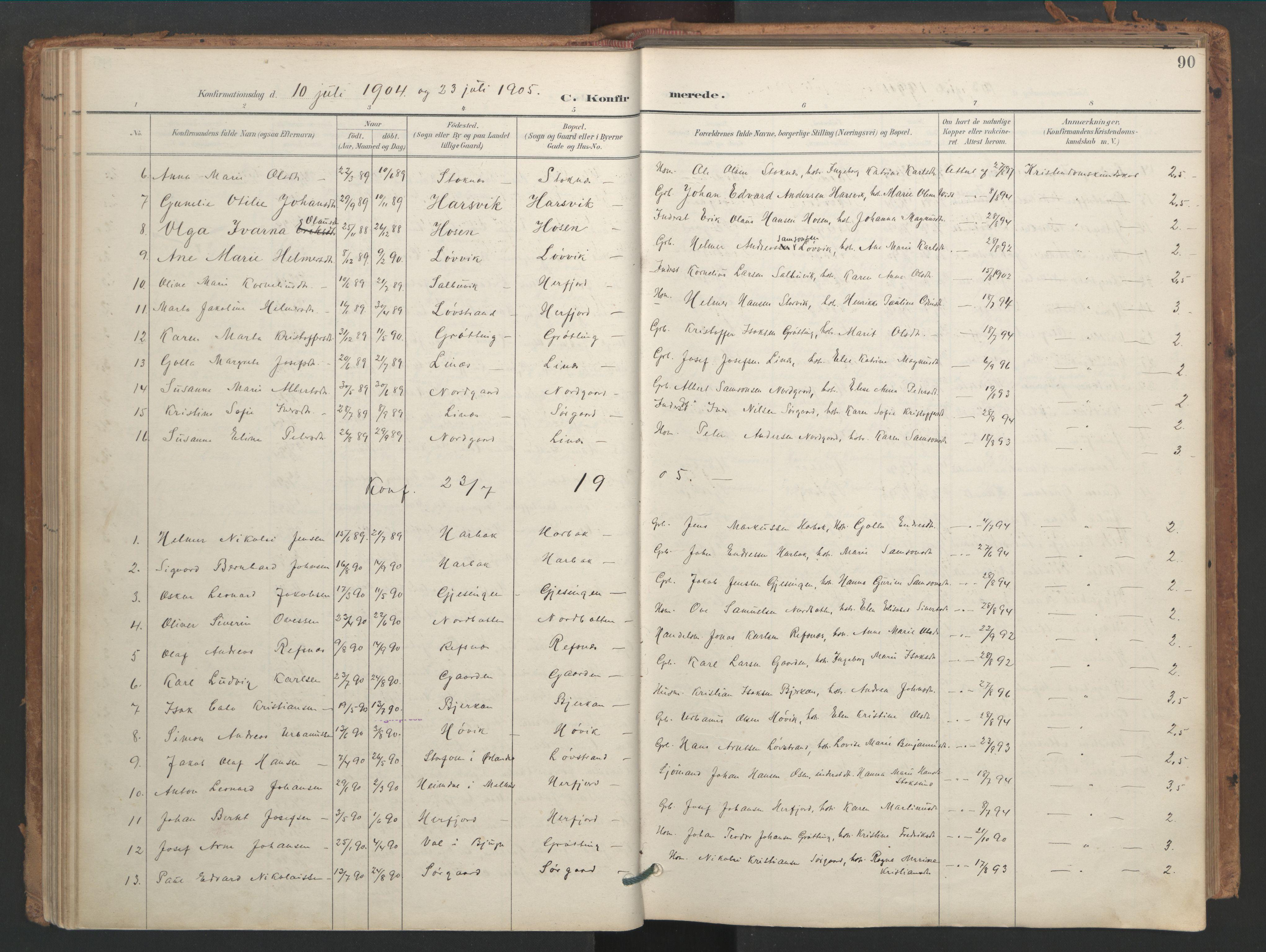SAT, Ministerialprotokoller, klokkerbøker og fødselsregistre - Sør-Trøndelag, 656/L0693: Ministerialbok nr. 656A02, 1894-1913, s. 90