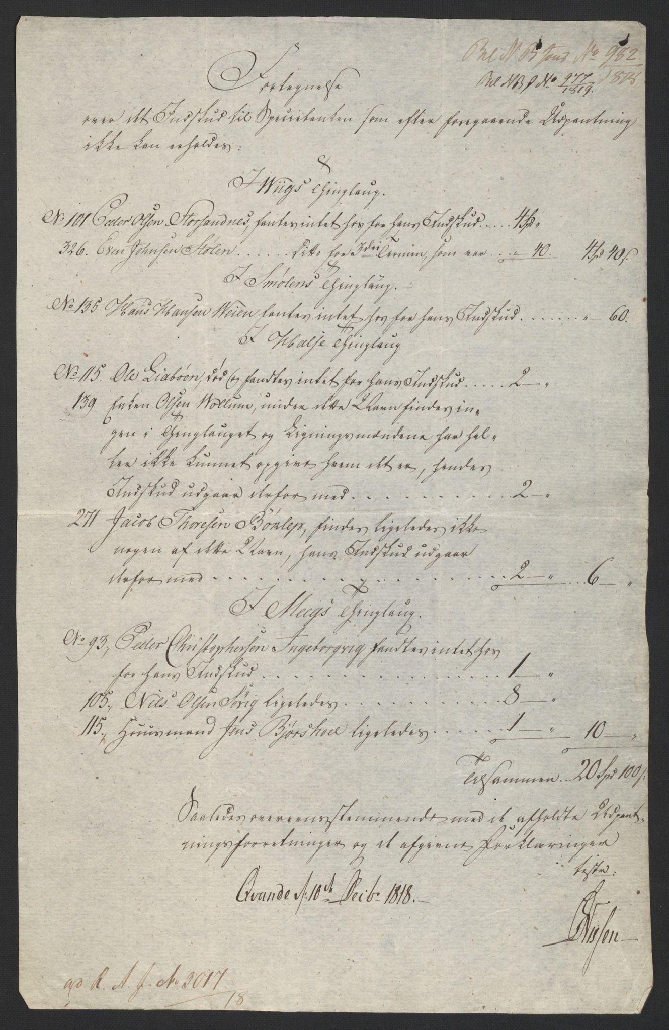 NOBA, Norges Bank/Sølvskatten 1816*, 1816-1819, s. 76