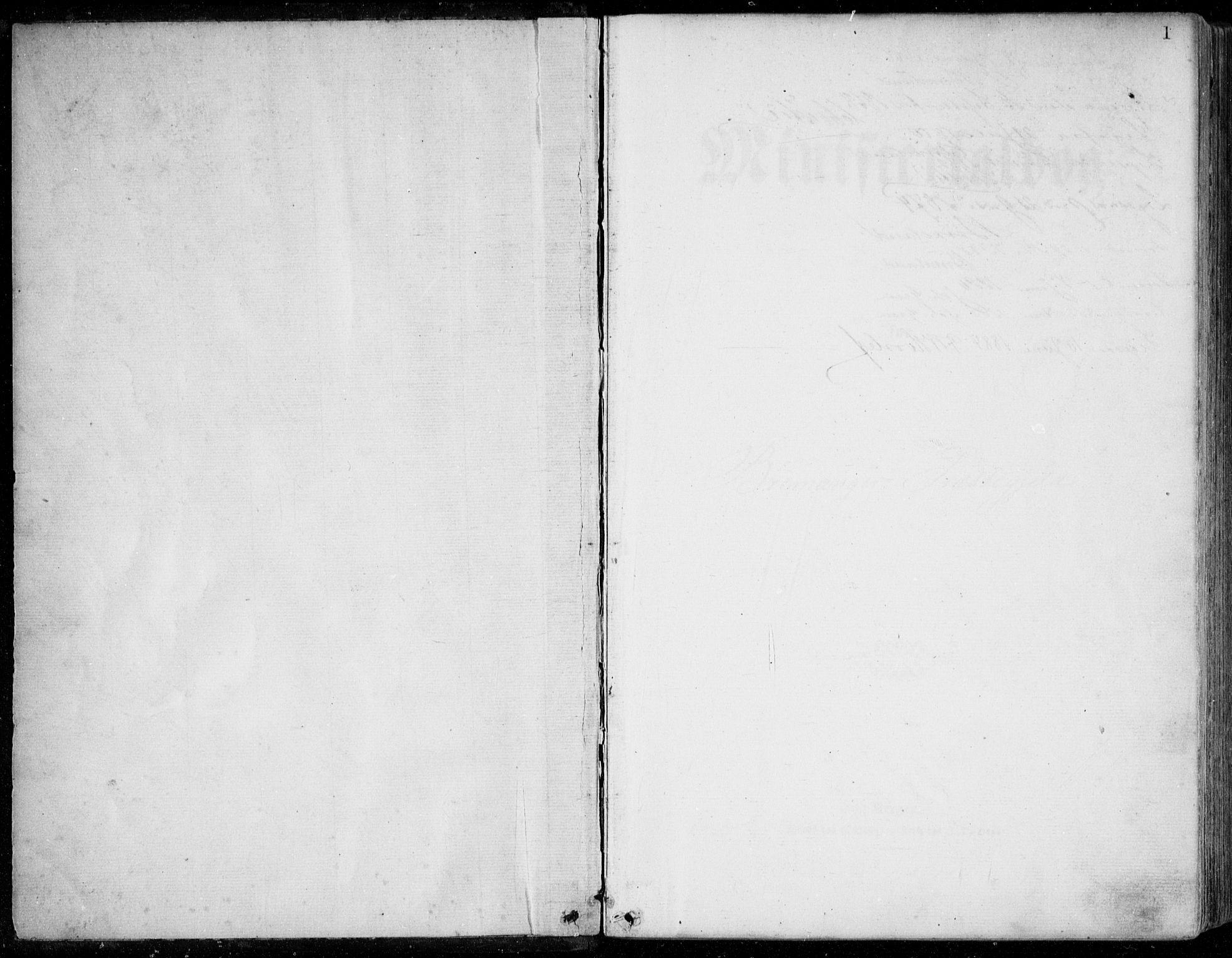 SAB, Bremanger Sokneprestembete, H/Haa: Ministerialbok nr. A  1, 1864-1883, s. 1