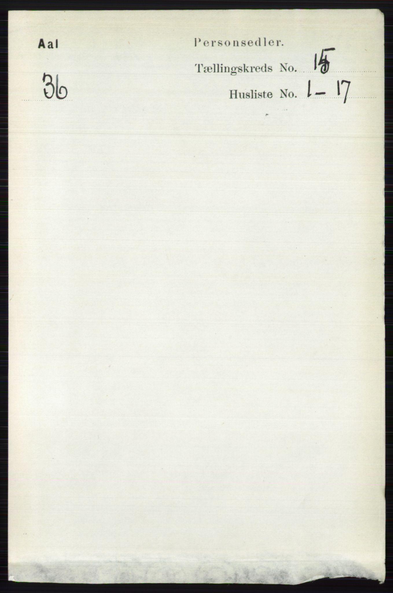 RA, Folketelling 1891 for 0619 Ål herred, 1891, s. 3753