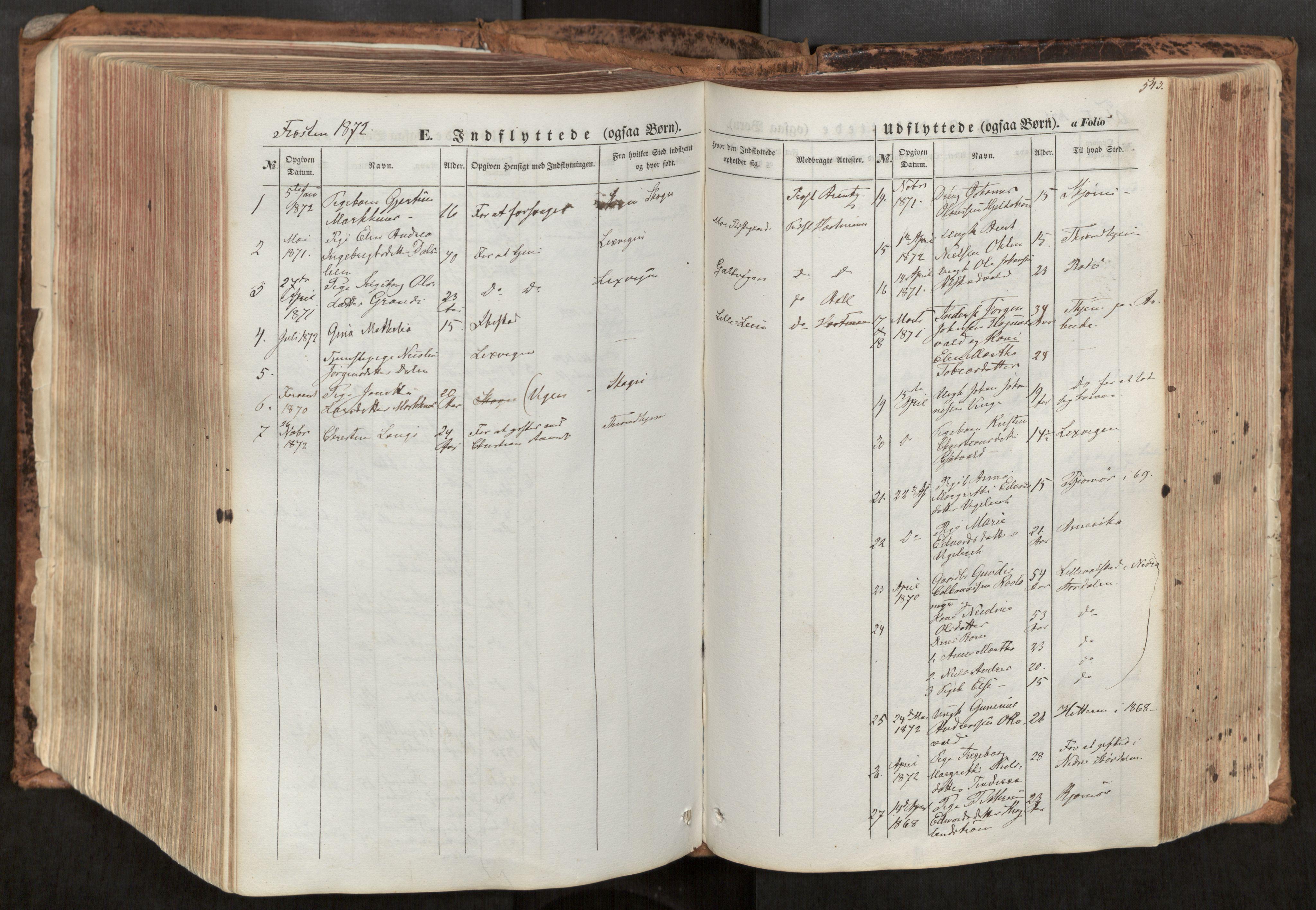 SAT, Ministerialprotokoller, klokkerbøker og fødselsregistre - Nord-Trøndelag, 713/L0116: Ministerialbok nr. 713A07, 1850-1877, s. 543