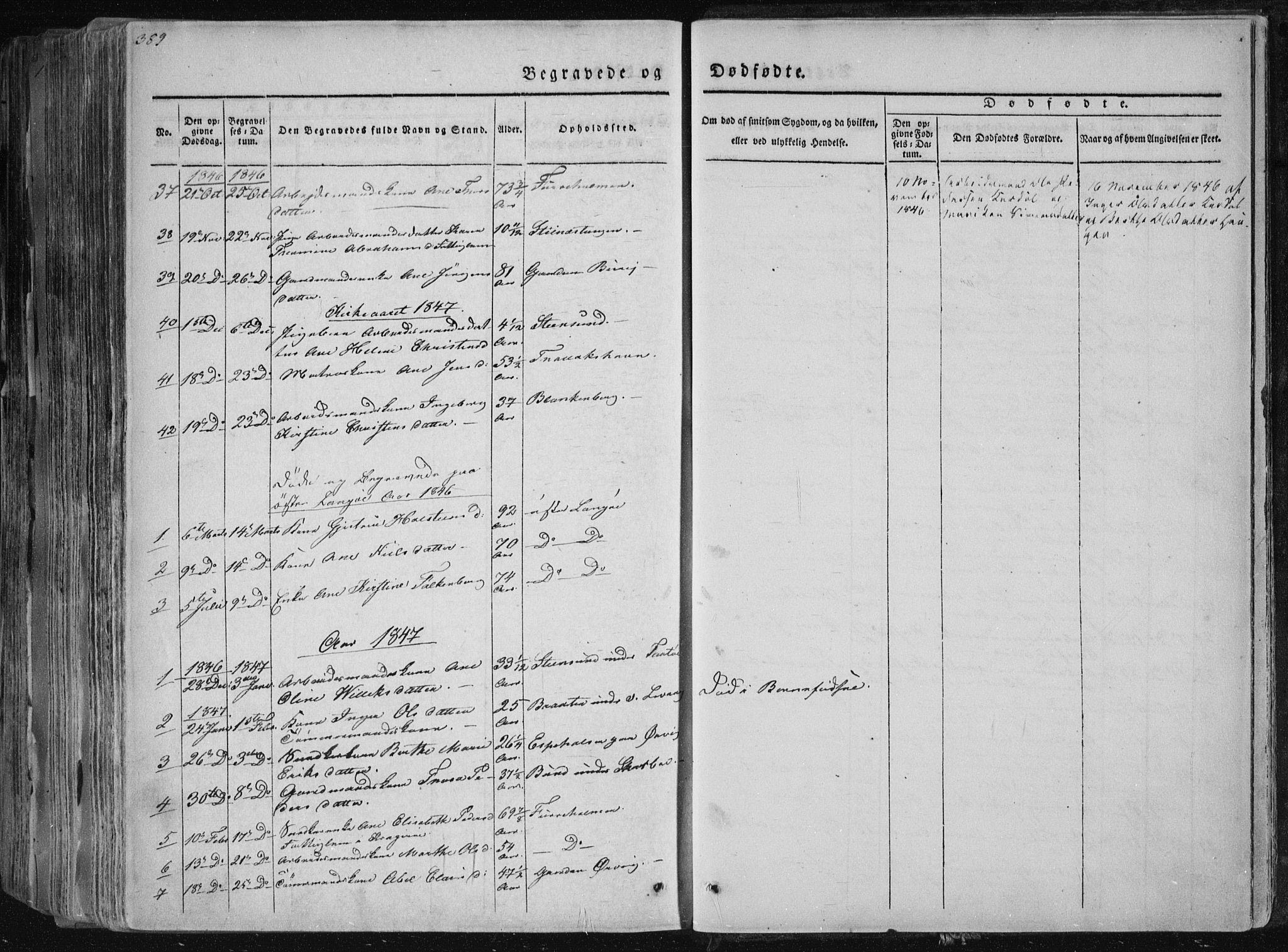 SAKO, Sannidal kirkebøker, F/Fa/L0006: Ministerialbok nr. 6, 1831-1847, s. 389