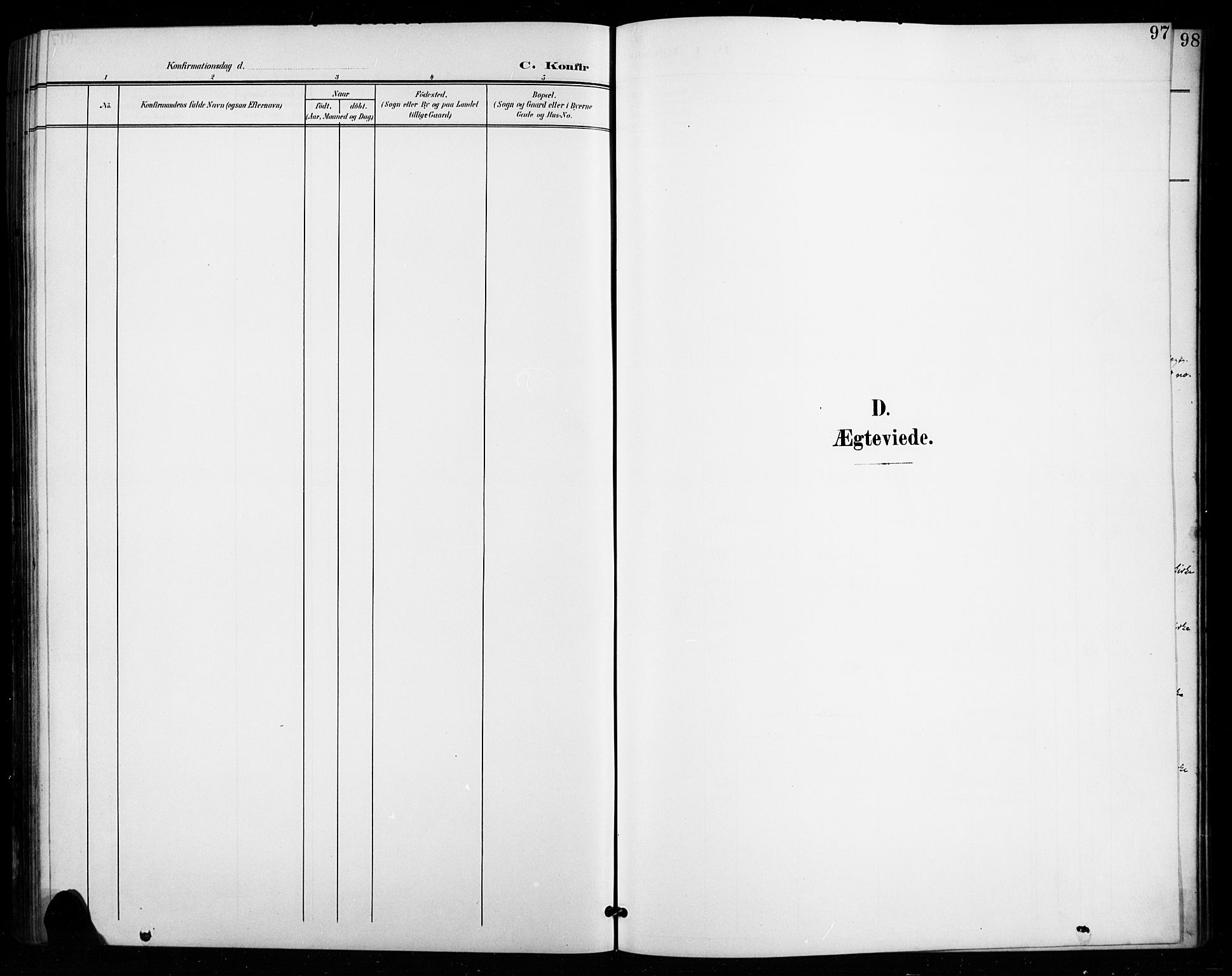 SAH, Vestre Toten prestekontor, H/Ha/Hab/L0016: Klokkerbok nr. 16, 1901-1915, s. 97