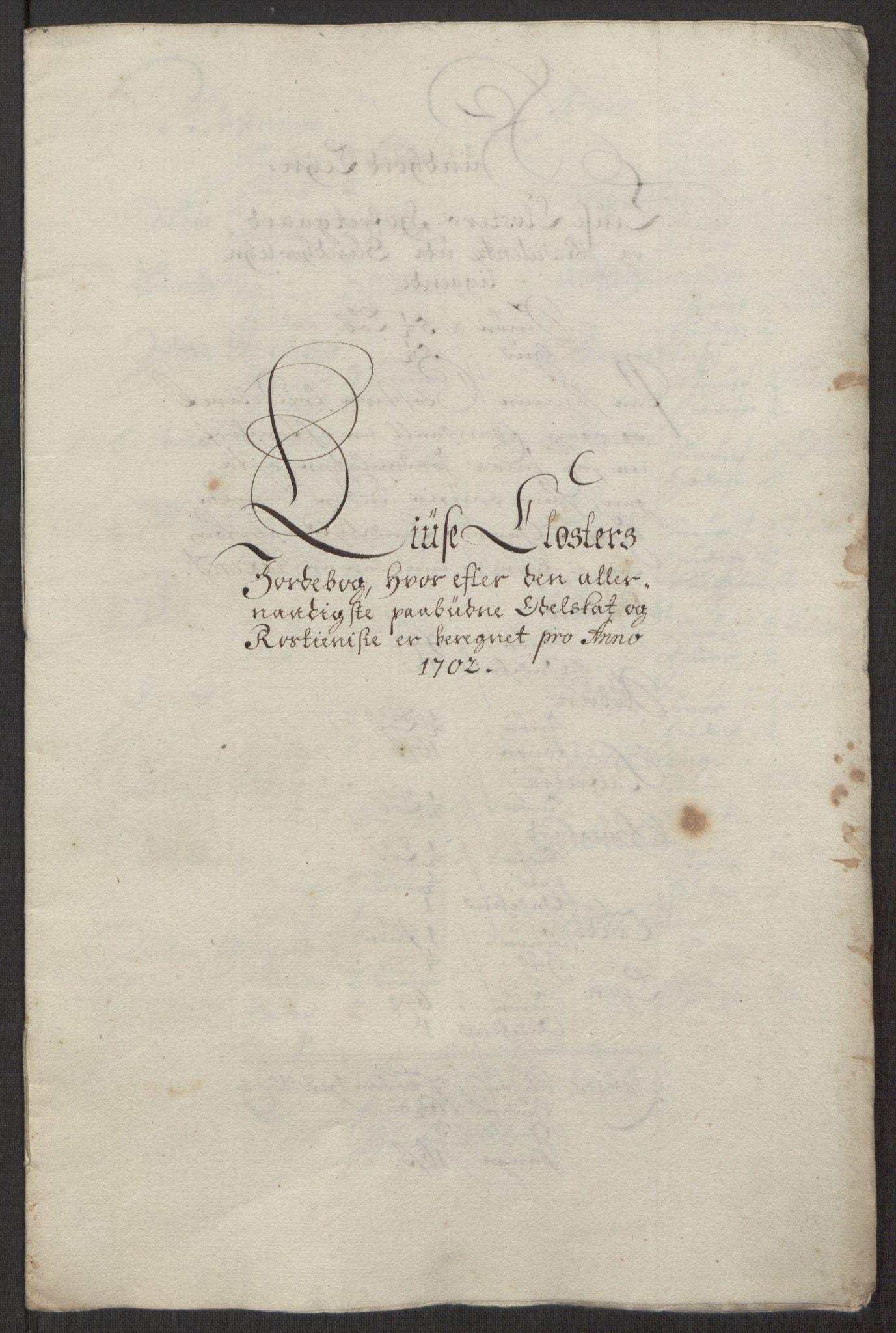RA, Rentekammeret inntil 1814, Reviderte regnskaper, Fogderegnskap, R50/L3159: Fogderegnskap Lyse kloster, 1691-1709, s. 157