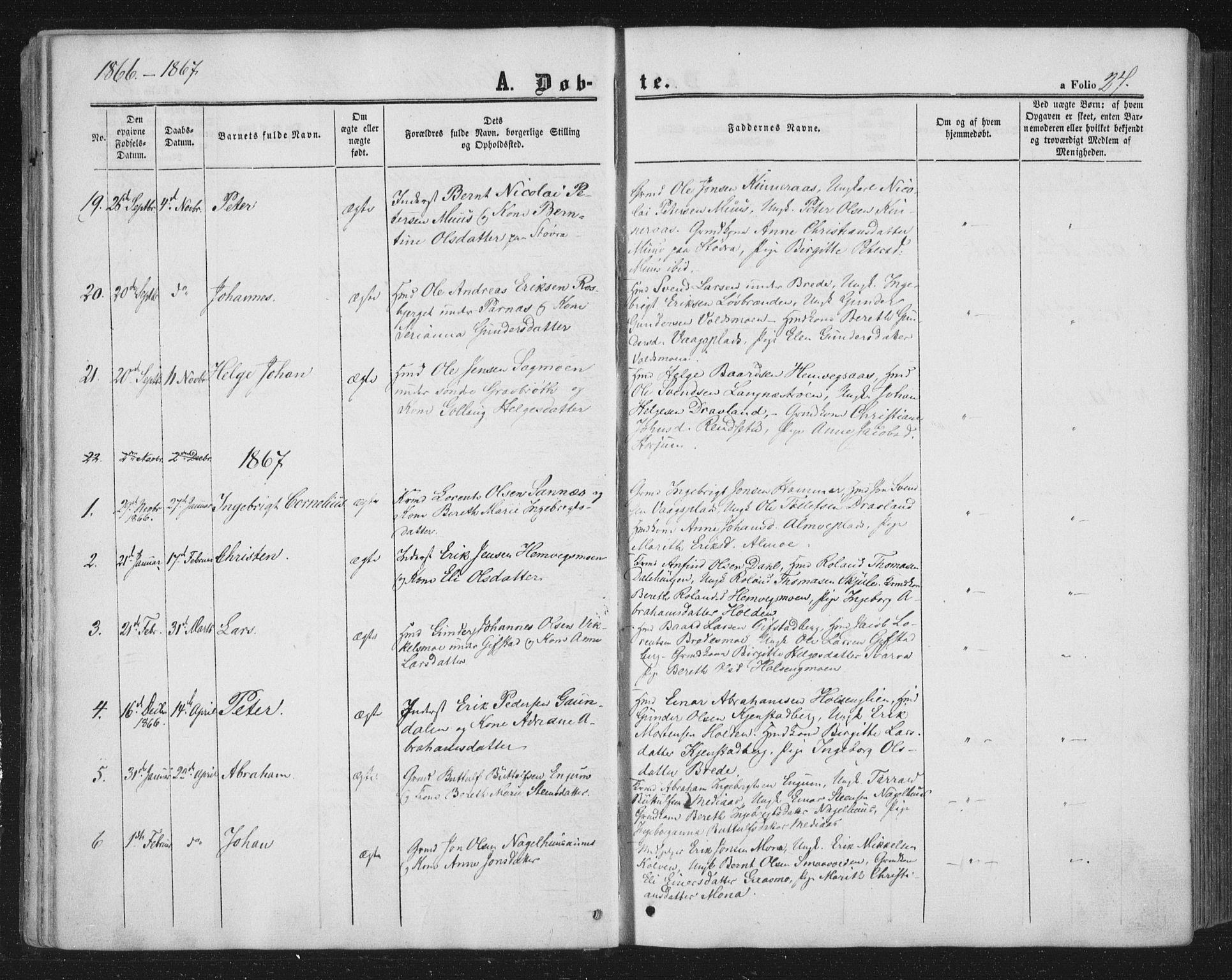 SAT, Ministerialprotokoller, klokkerbøker og fødselsregistre - Nord-Trøndelag, 749/L0472: Ministerialbok nr. 749A06, 1857-1873, s. 27