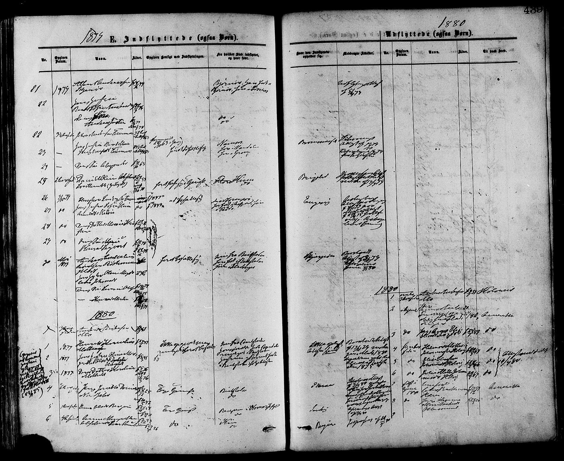 SAT, Ministerialprotokoller, klokkerbøker og fødselsregistre - Nord-Trøndelag, 773/L0616: Ministerialbok nr. 773A07, 1870-1887, s. 439