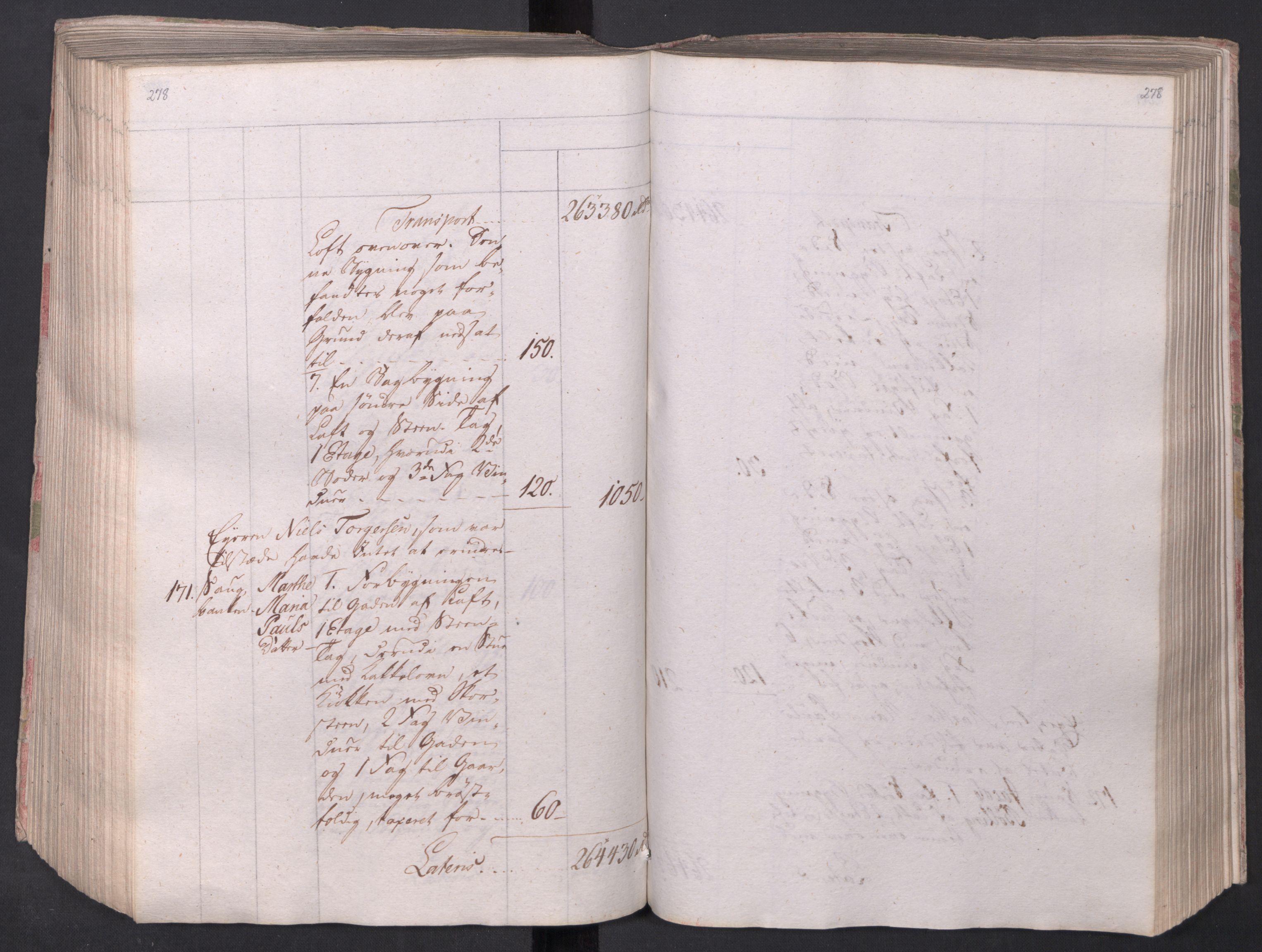 SAO, Kristiania stiftamt, I/Ia/L0015: Branntakster, 1797, s. 278