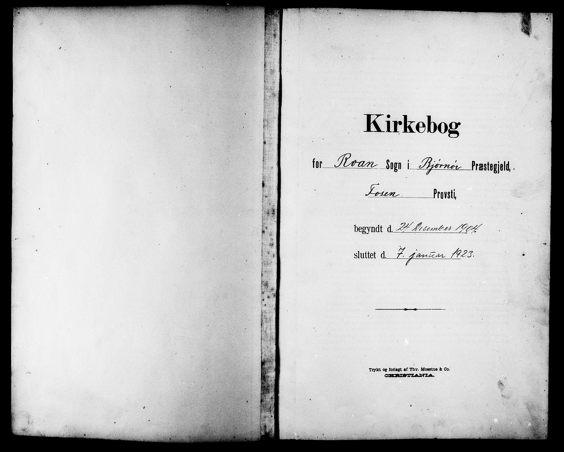 SAT, Ministerialprotokoller, klokkerbøker og fødselsregistre - Sør-Trøndelag, 657/L0717: Klokkerbok nr. 657C04, 1904-1923