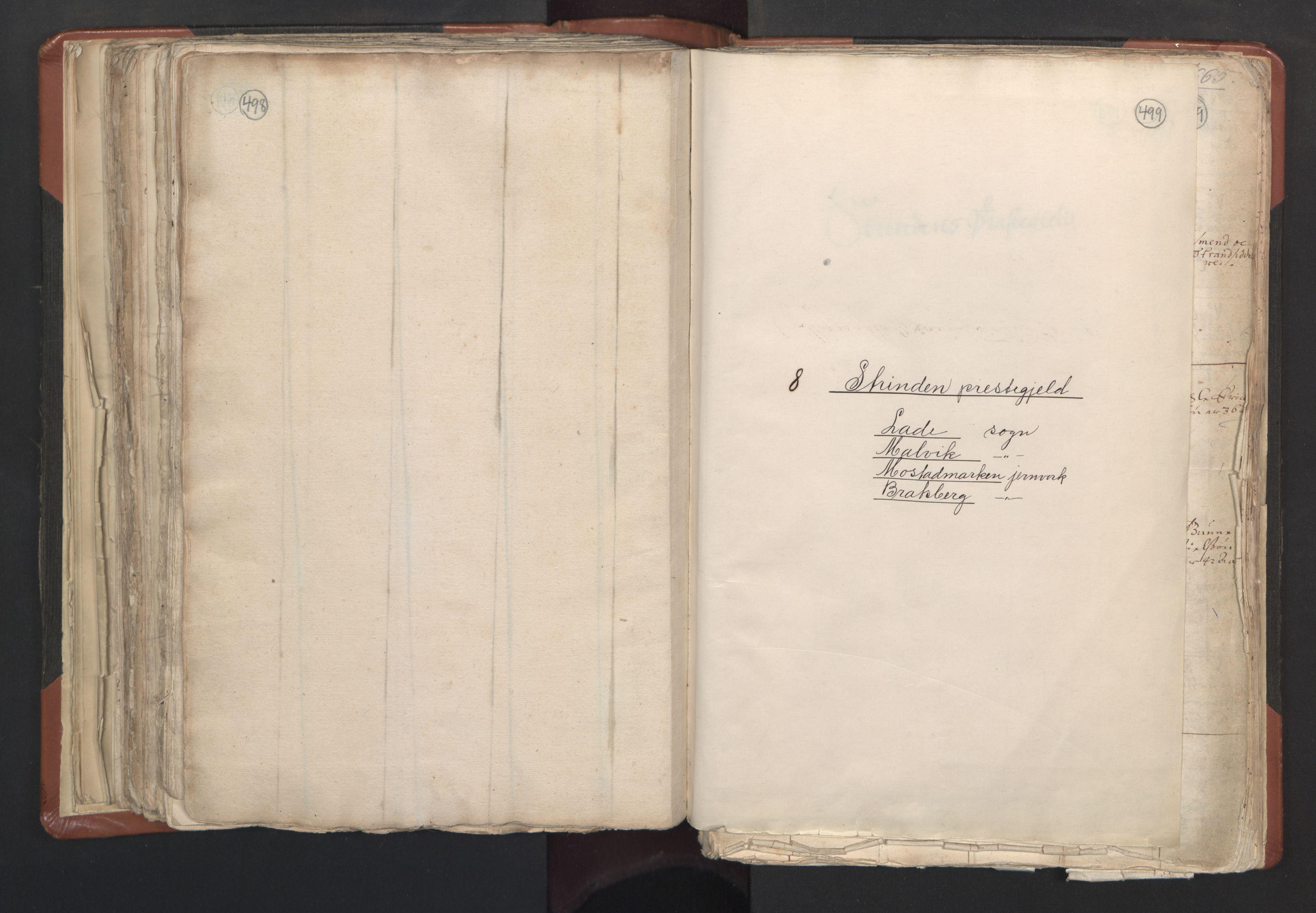 RA, Sogneprestenes manntall 1664-1666, nr. 31: Dalane prosti, 1664-1666, s. 498-499