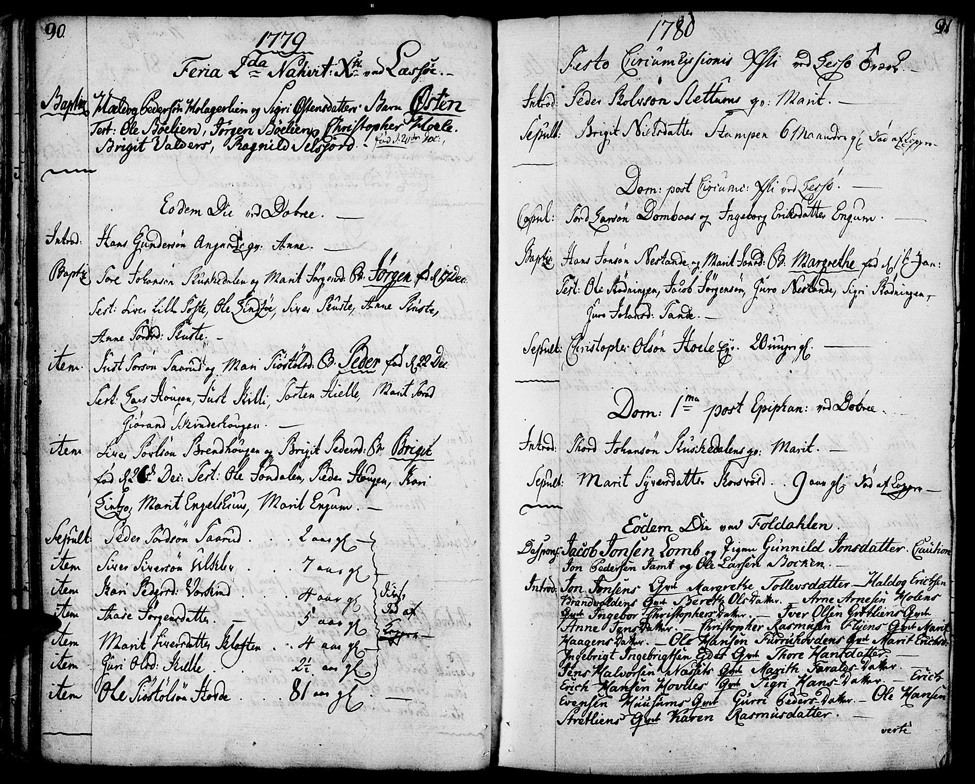 SAH, Lesja prestekontor, Ministerialbok nr. 3, 1777-1819, s. 90-91