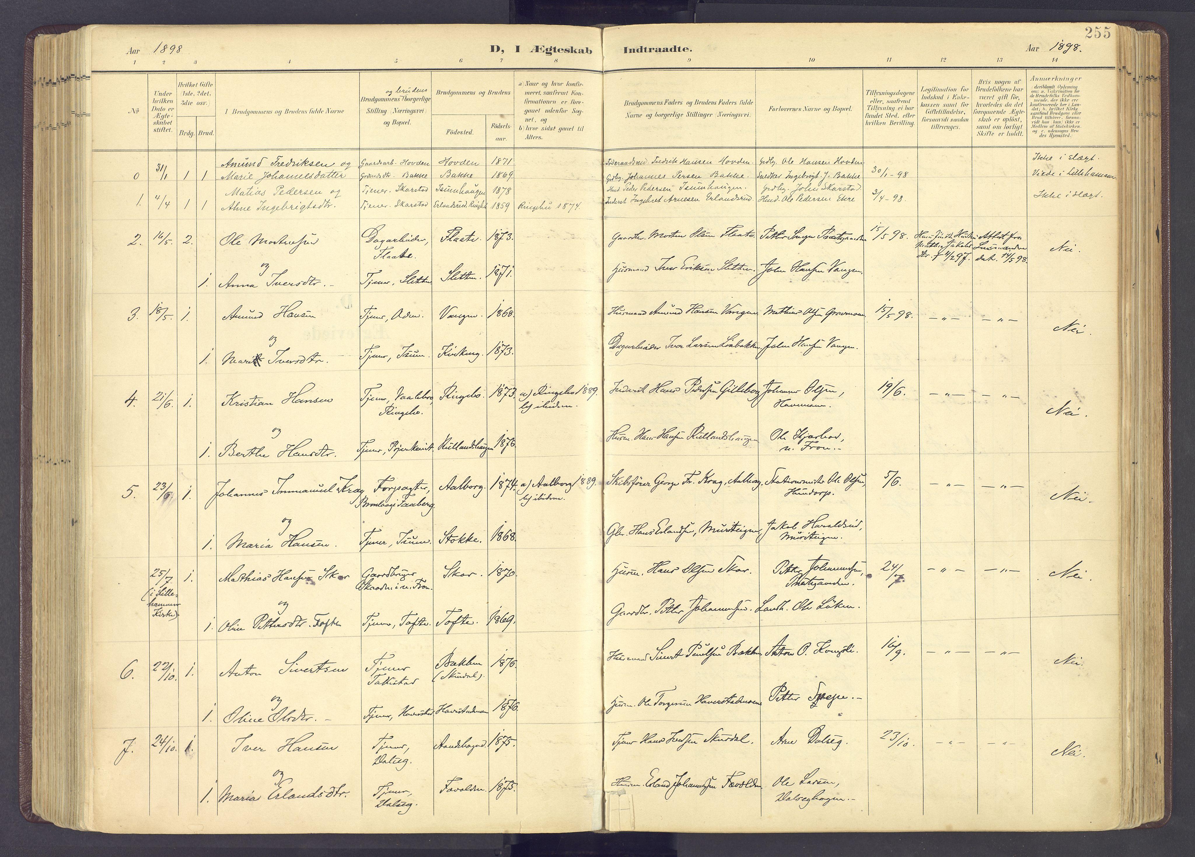 SAH, Sør-Fron prestekontor, H/Ha/Haa/L0004: Ministerialbok nr. 4, 1898-1919, s. 255